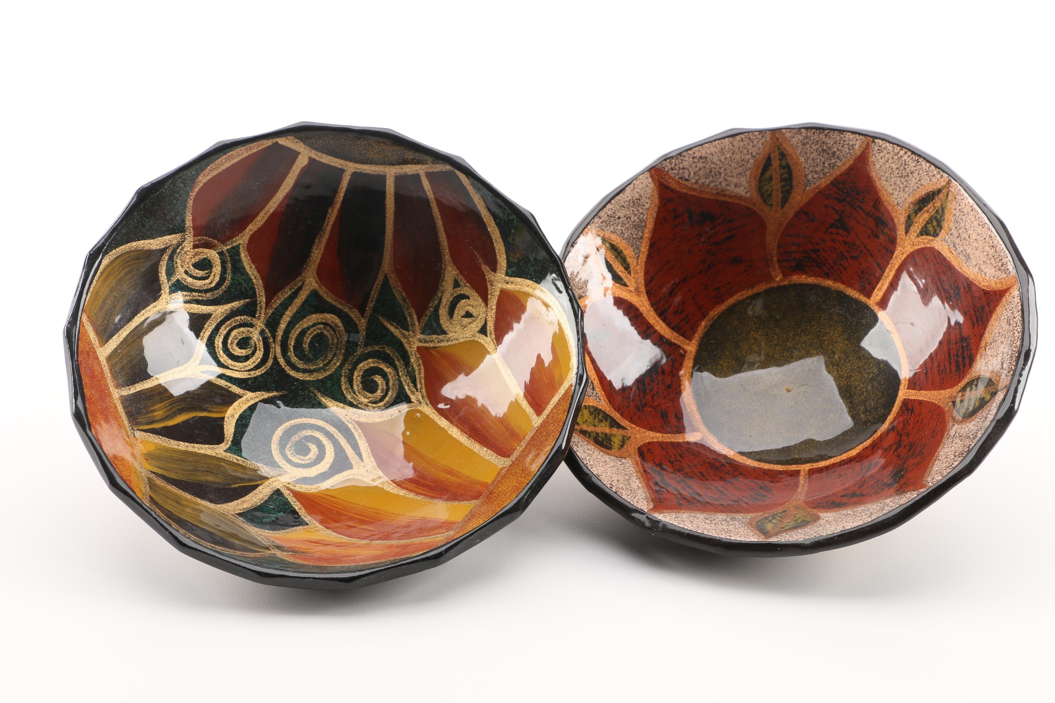 Stoneware Sunflower Bowls