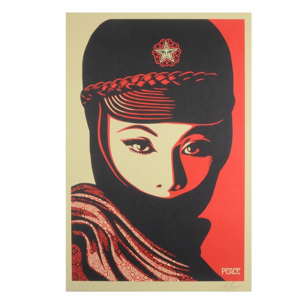 "Shepard Fairey Offset Print ""Mujer Fatale"""