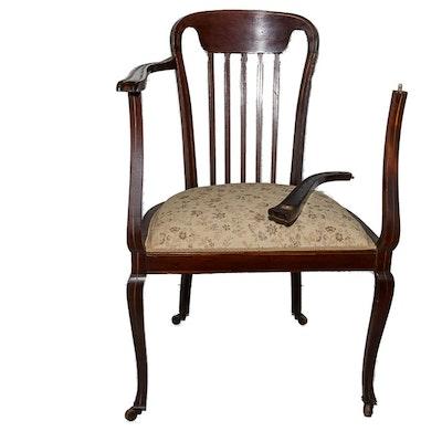 Antique Colonial-Revival Armchair - Online Furniture Auctions Vintage Furniture Auction Antique