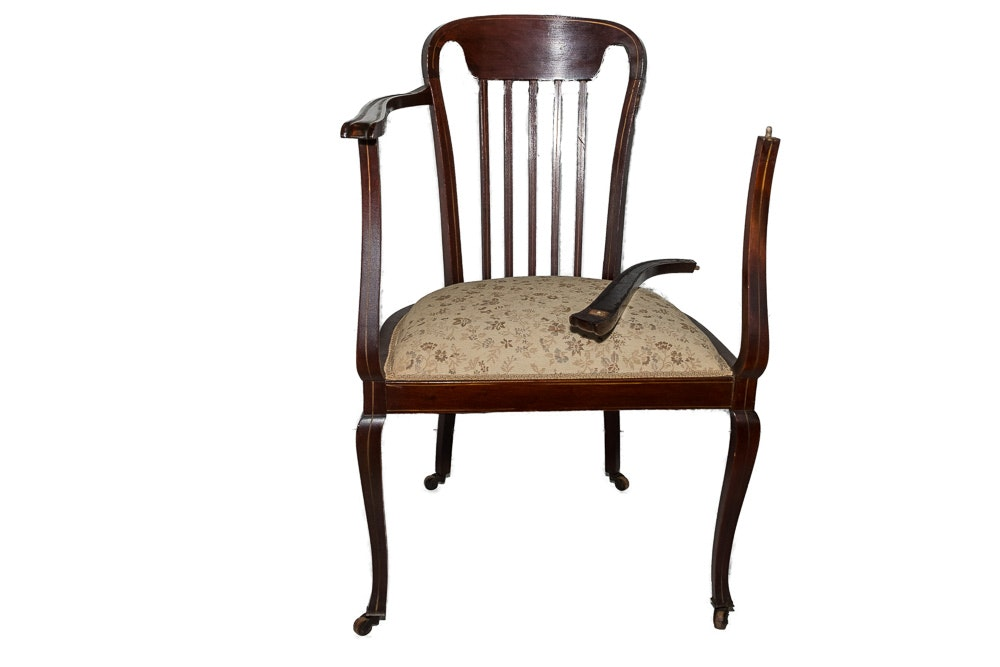 Antique Colonial-Revival Armchair