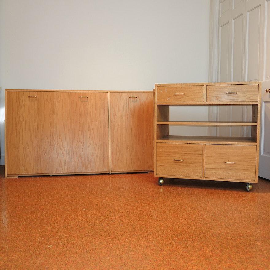 Artist Work And Storage Cabinets