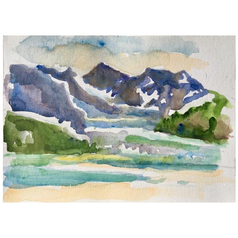 Mountain Landscape by Taki Tu, 1990's