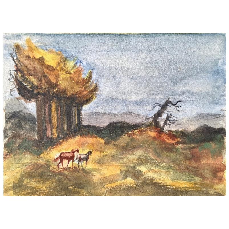 Equestrian Landscape, 1950's