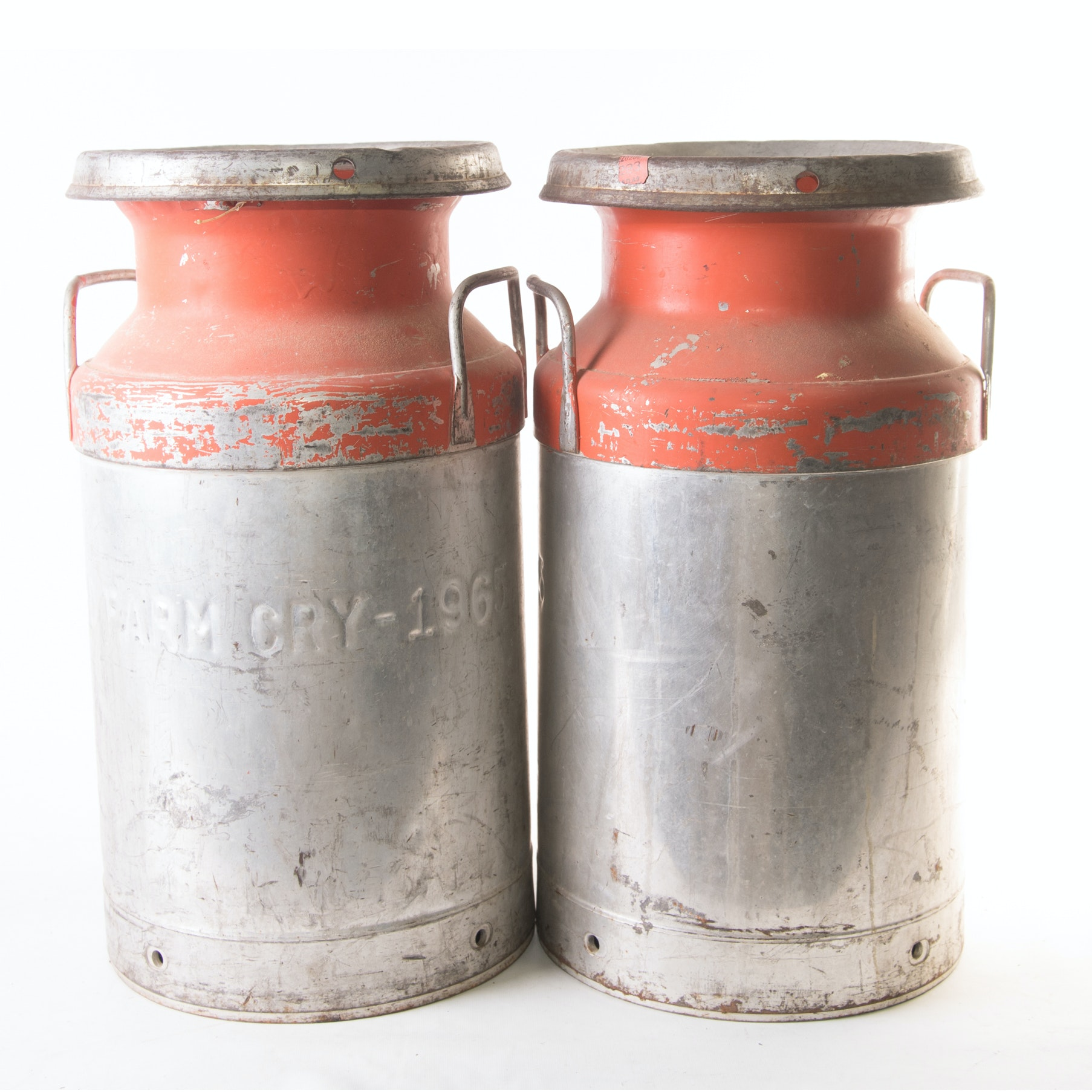 Vintage Island Farms Milk Cans