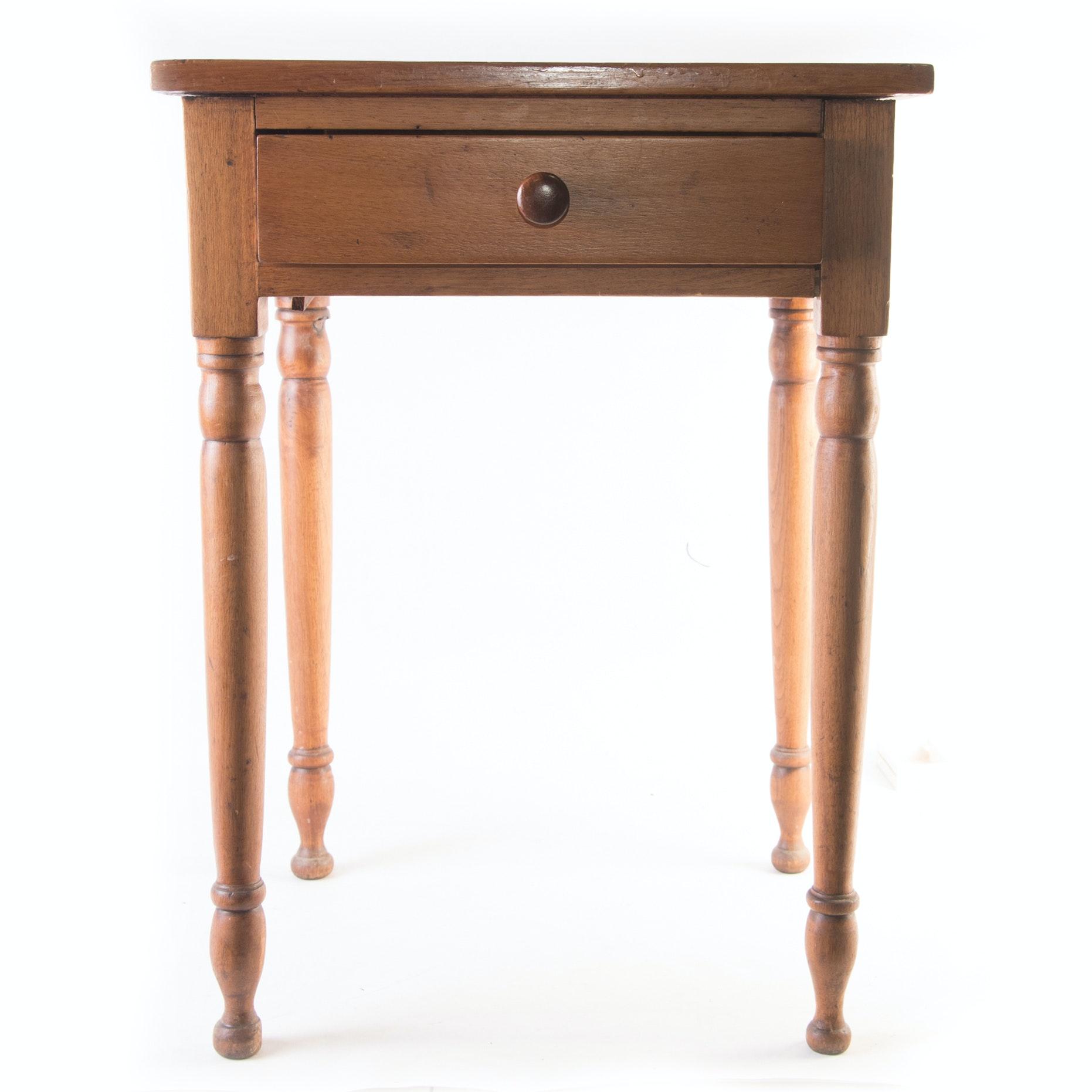 Primitive Oak Accent Tables