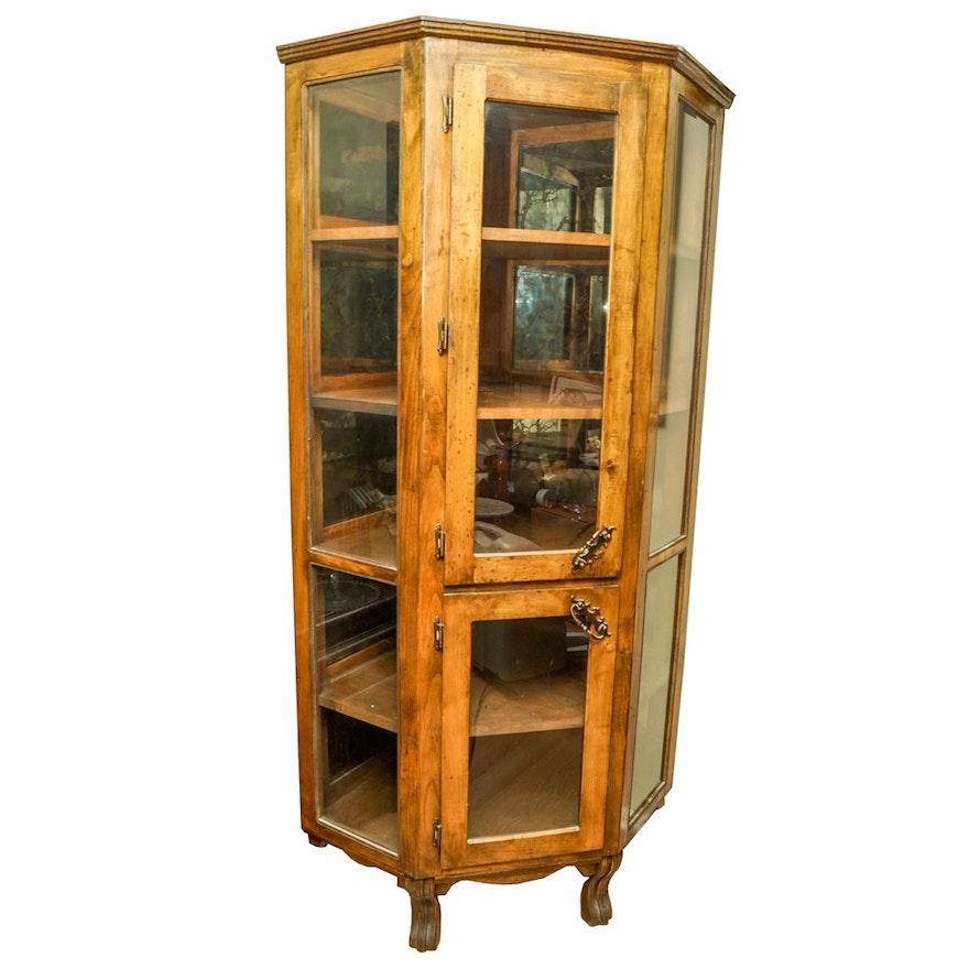 Vintage Corner Display Cabinet ... - Vintage Corner Display Cabinet : EBTH