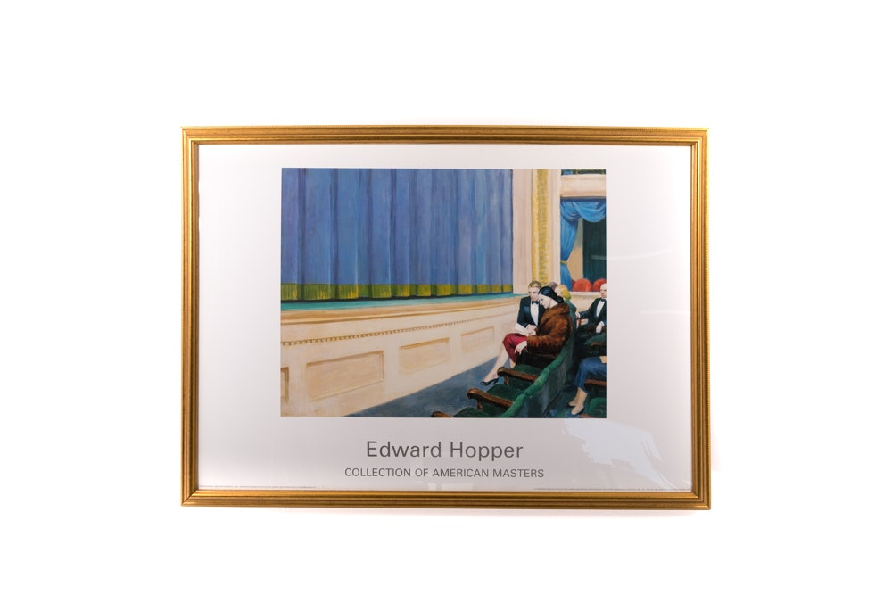 "Framed ""Edward Hopper Collection of American Masters"" Poster"