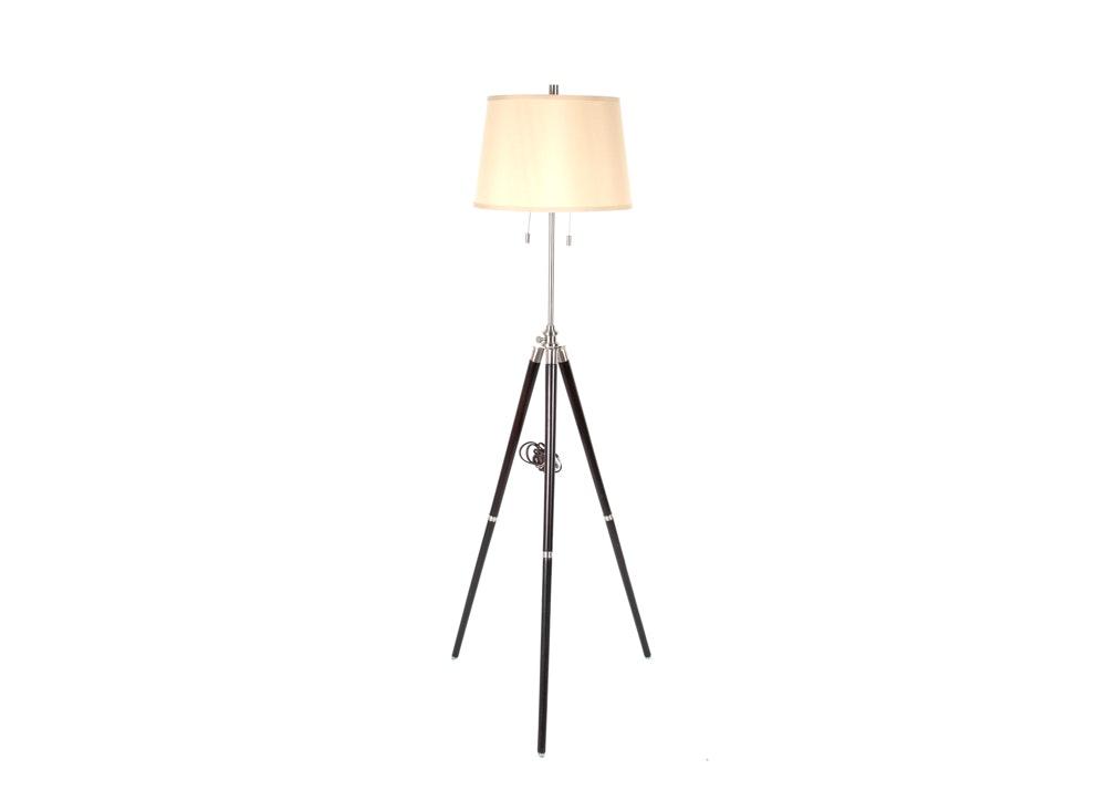 Adjustable Height Surveyor Tripod Style Floor Lamp Ebth