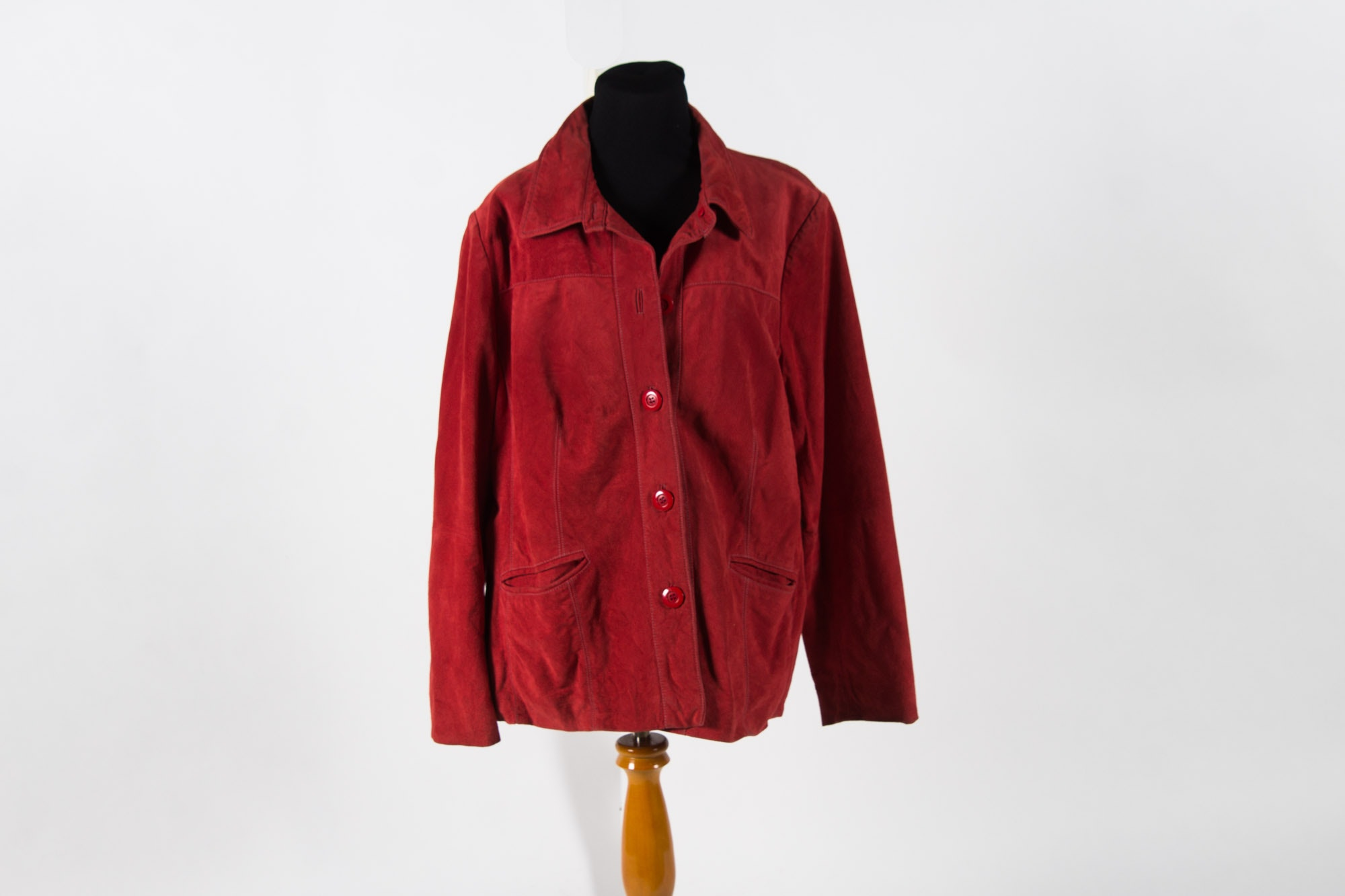 TravelSmith Red Leather Women's Jacket
