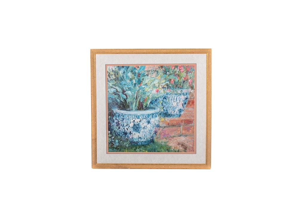 "Henrietta Milan Offset Lithograph ""Porcelain Pots"""