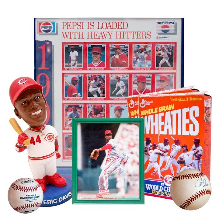 Cincinnati Reds Memorabilia and 1990 Wold Series Champion Player Autographs