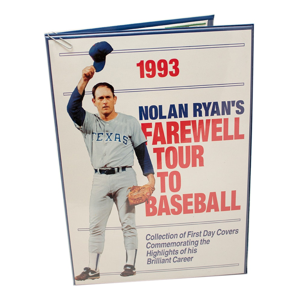 Nolan Ryan Autographed First Day Covers Stamps