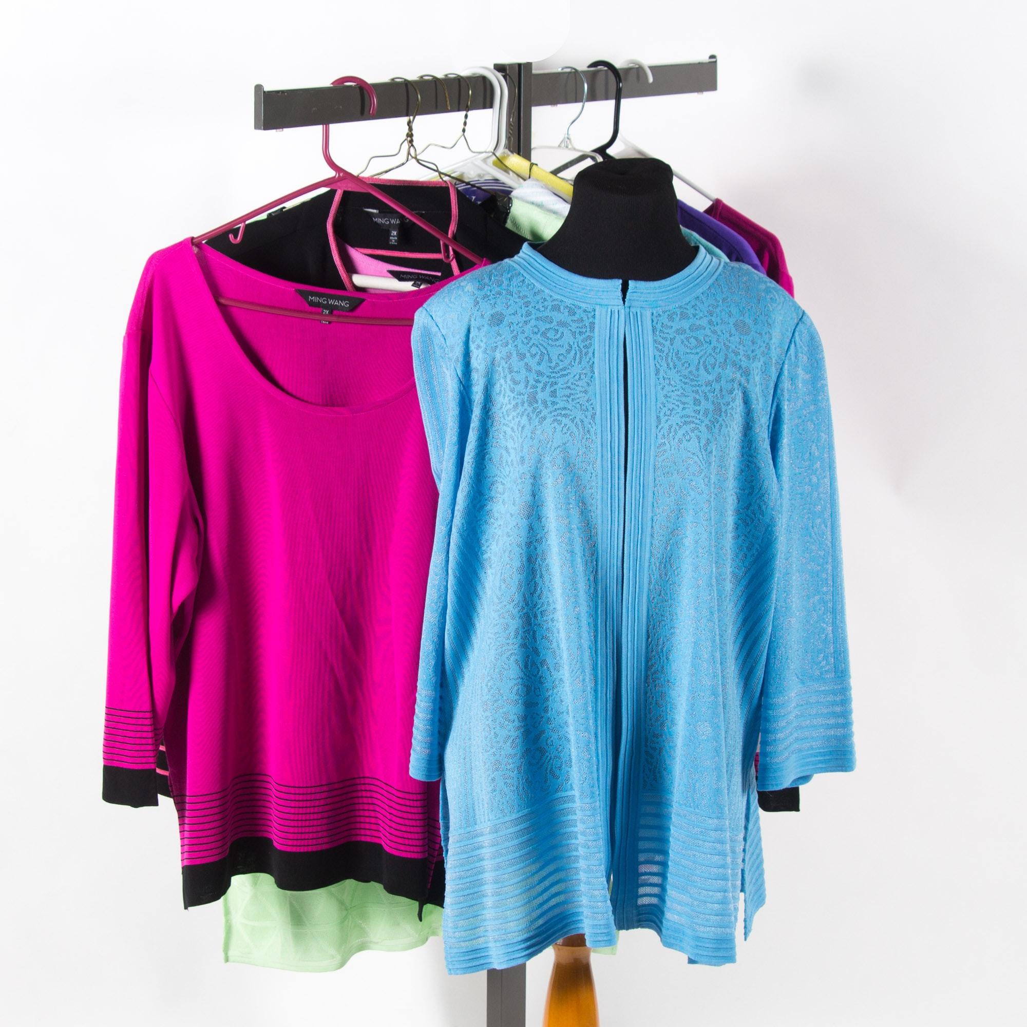 Ming Wang Designer Cardigans and Shirts
