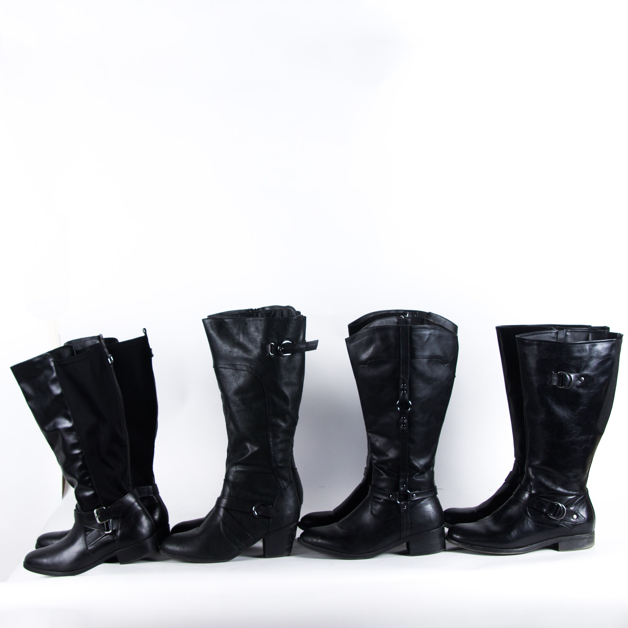 Four Pairs of Women's Faux Leather Boots
