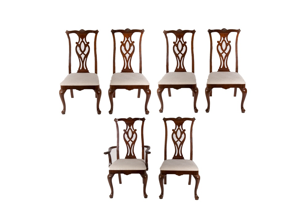 Set of Chippendale Style Dining Chairs by Thomasville