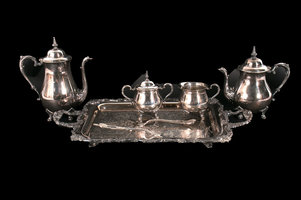Sheridan Silver Co. Silver-Plated Coffee and Tea Service