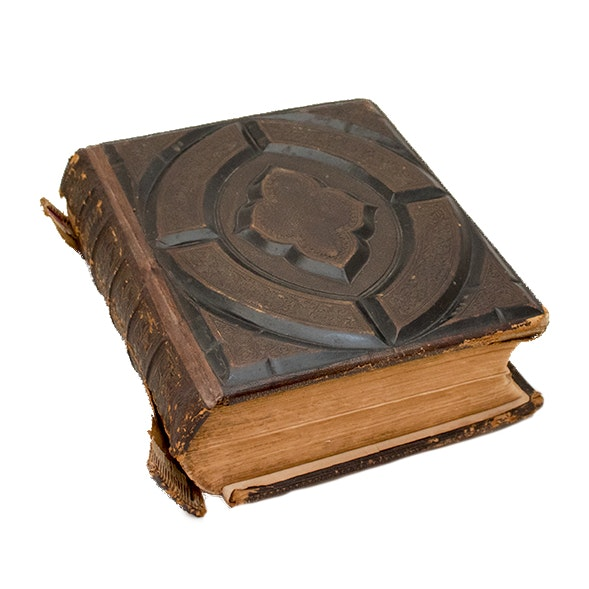Antique Gilded Leather Holy Bible, Published 1870
