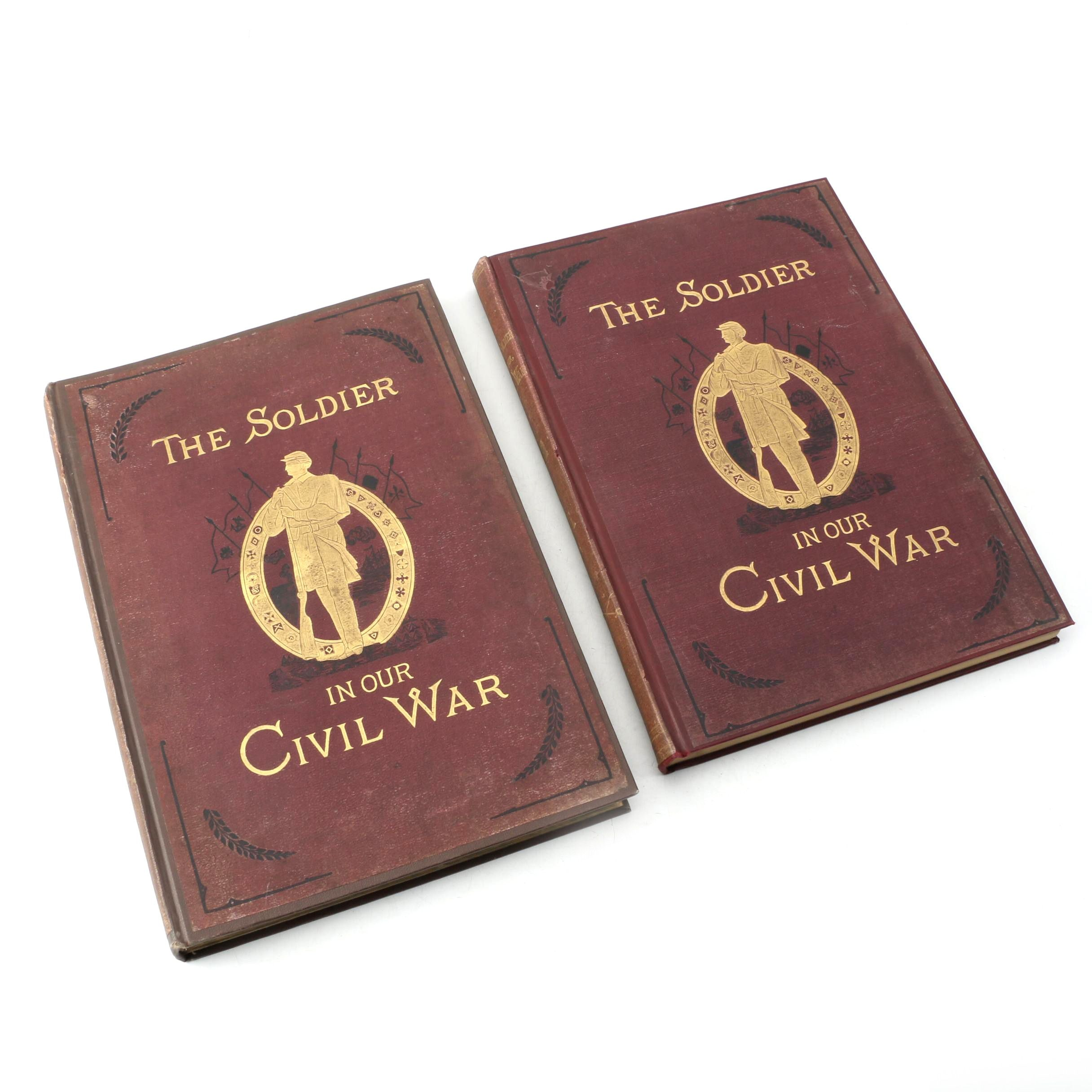 """1890 """"The Soldier In Our Civil War"""" by Frank Leslie in Two Volumes"""