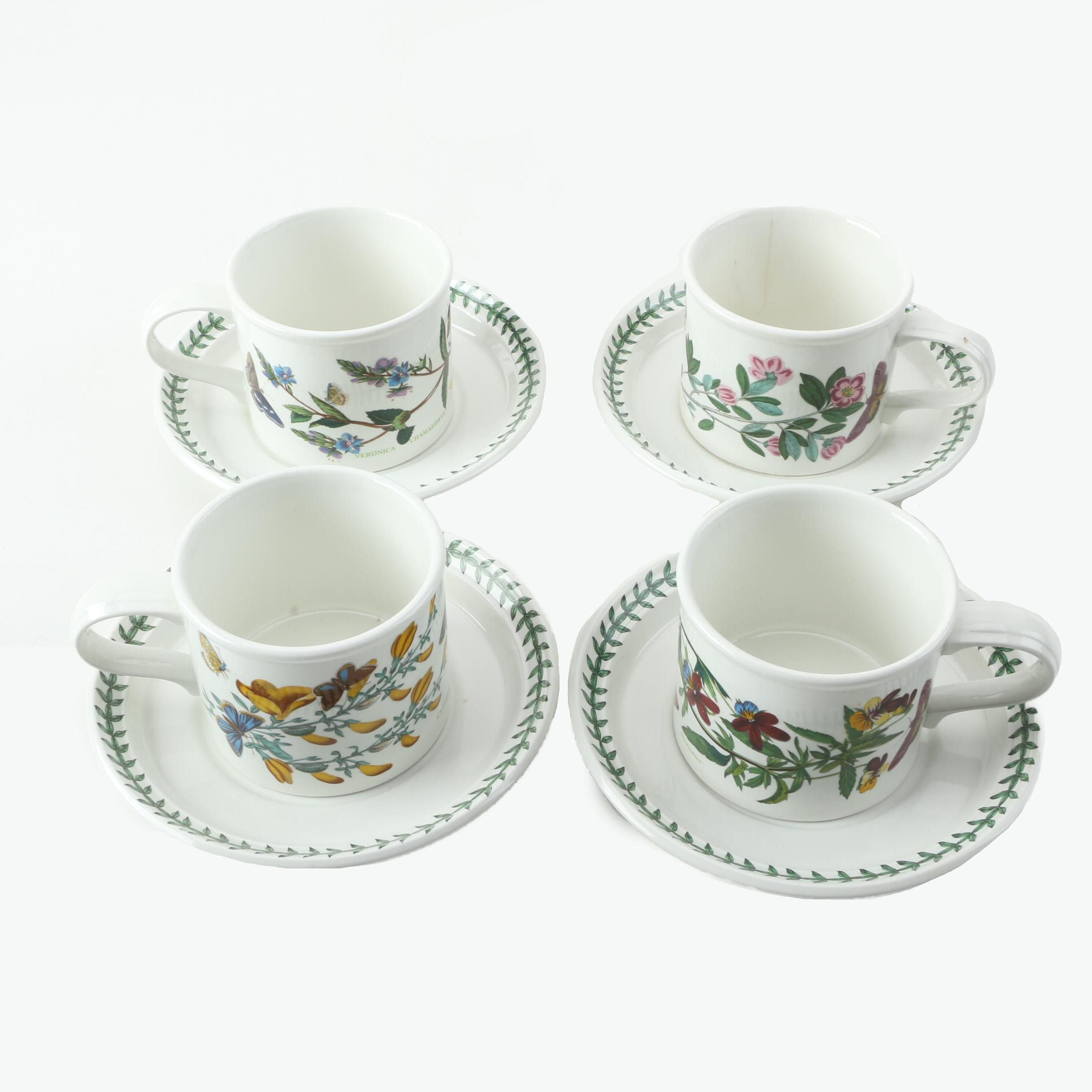 "Portmeirion ""Botanic Garden"" Teacups and Saucers"