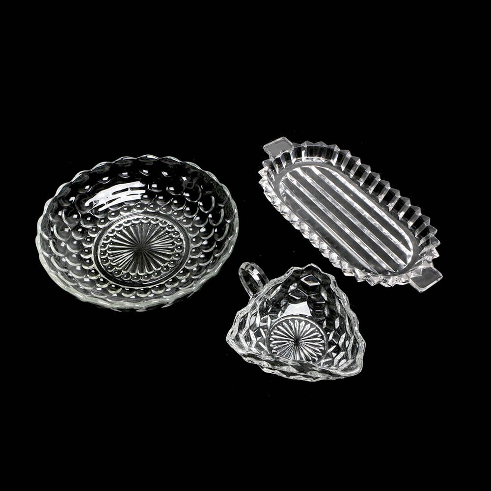 Pressed Glass Serving Dishes