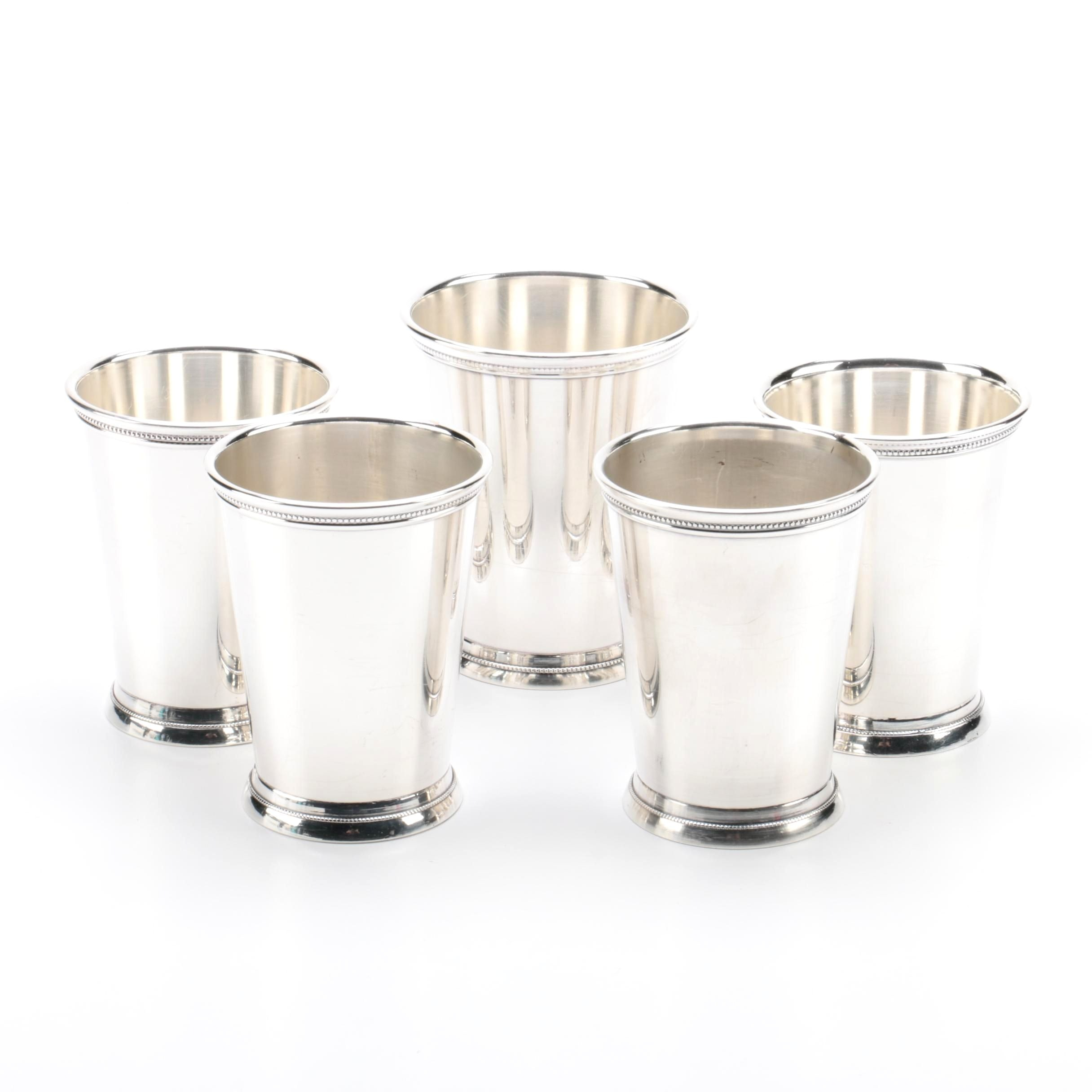 Webster-Wilcox Silver Plate Mint Julep Cups