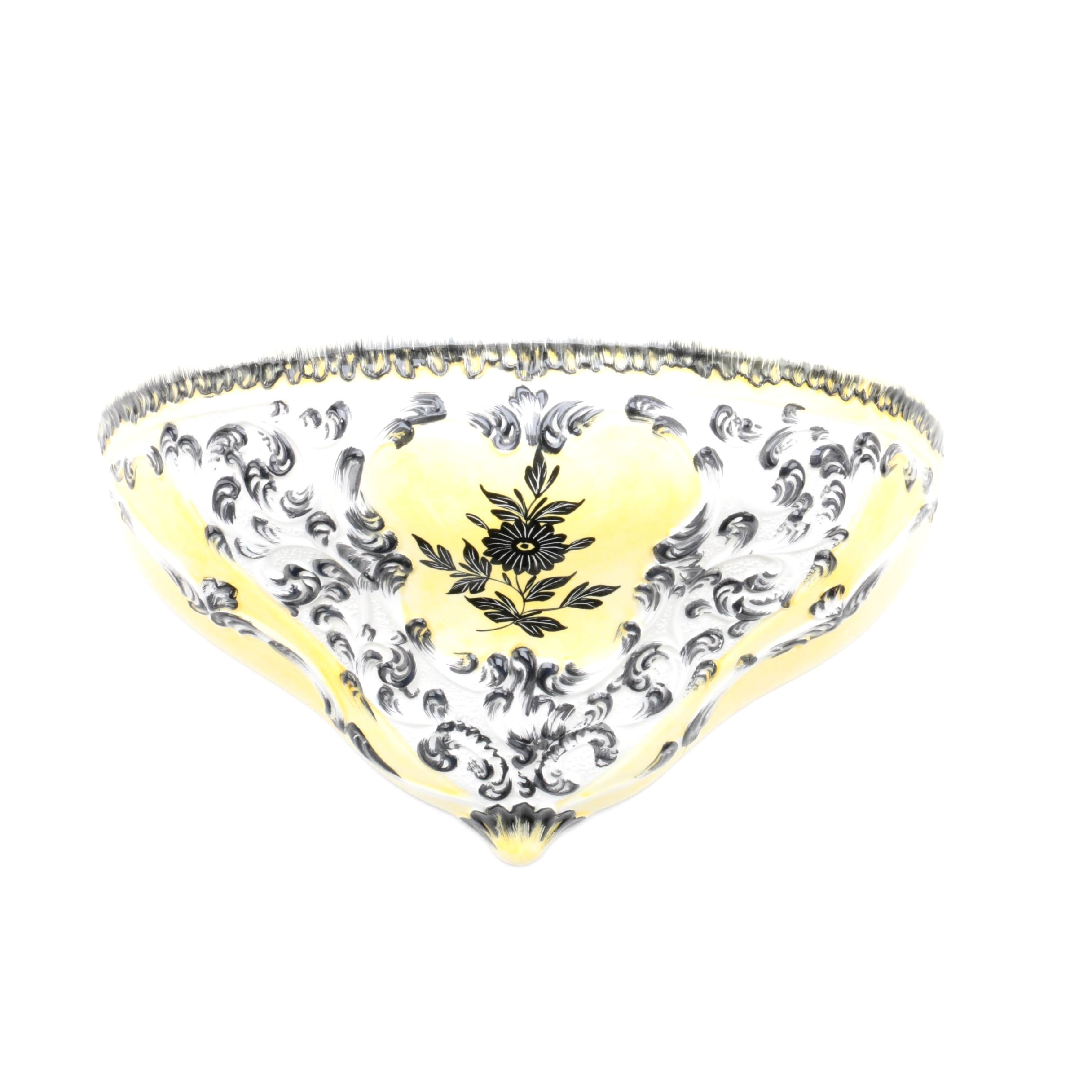 Italian Floral Ceramic Corbel