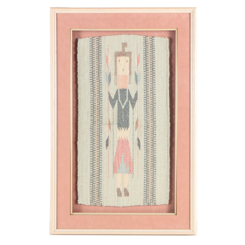 Navajo Style Woven Yei Textile