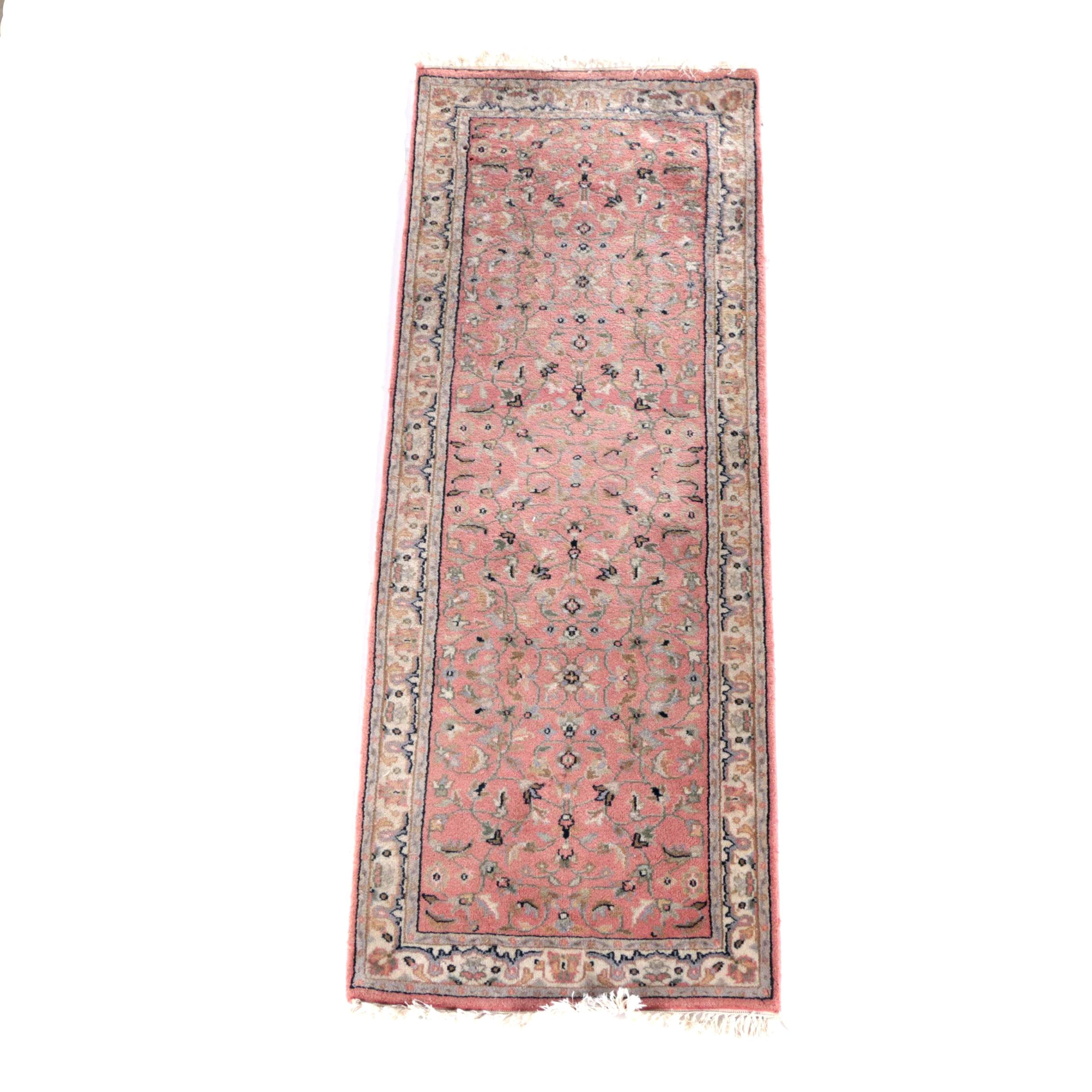 Vintage Hand-Knotted Sino-Persian Wool Carpet Runner