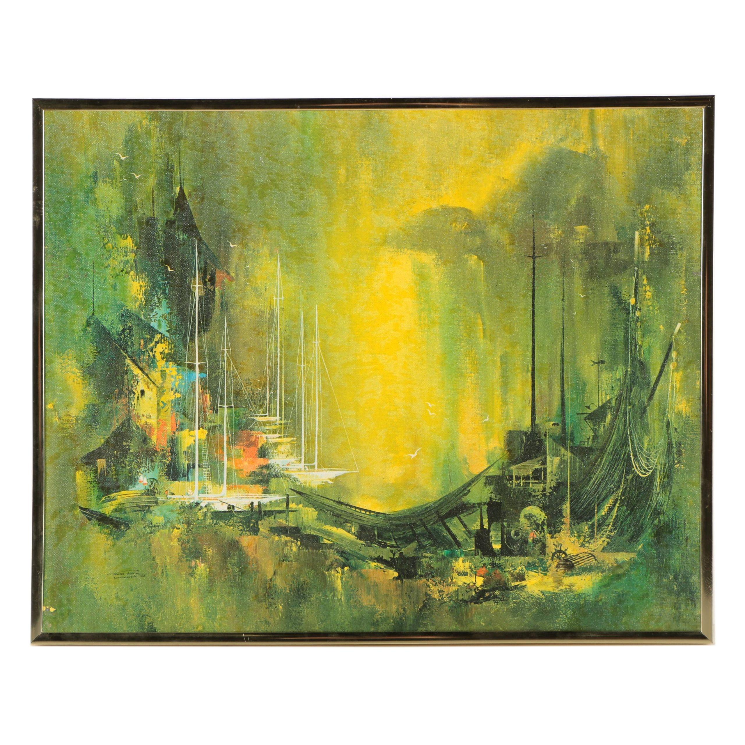 """Giclée on Canvas After Frans Van Lamsweerde's """"Marine Surréaliste"""""""