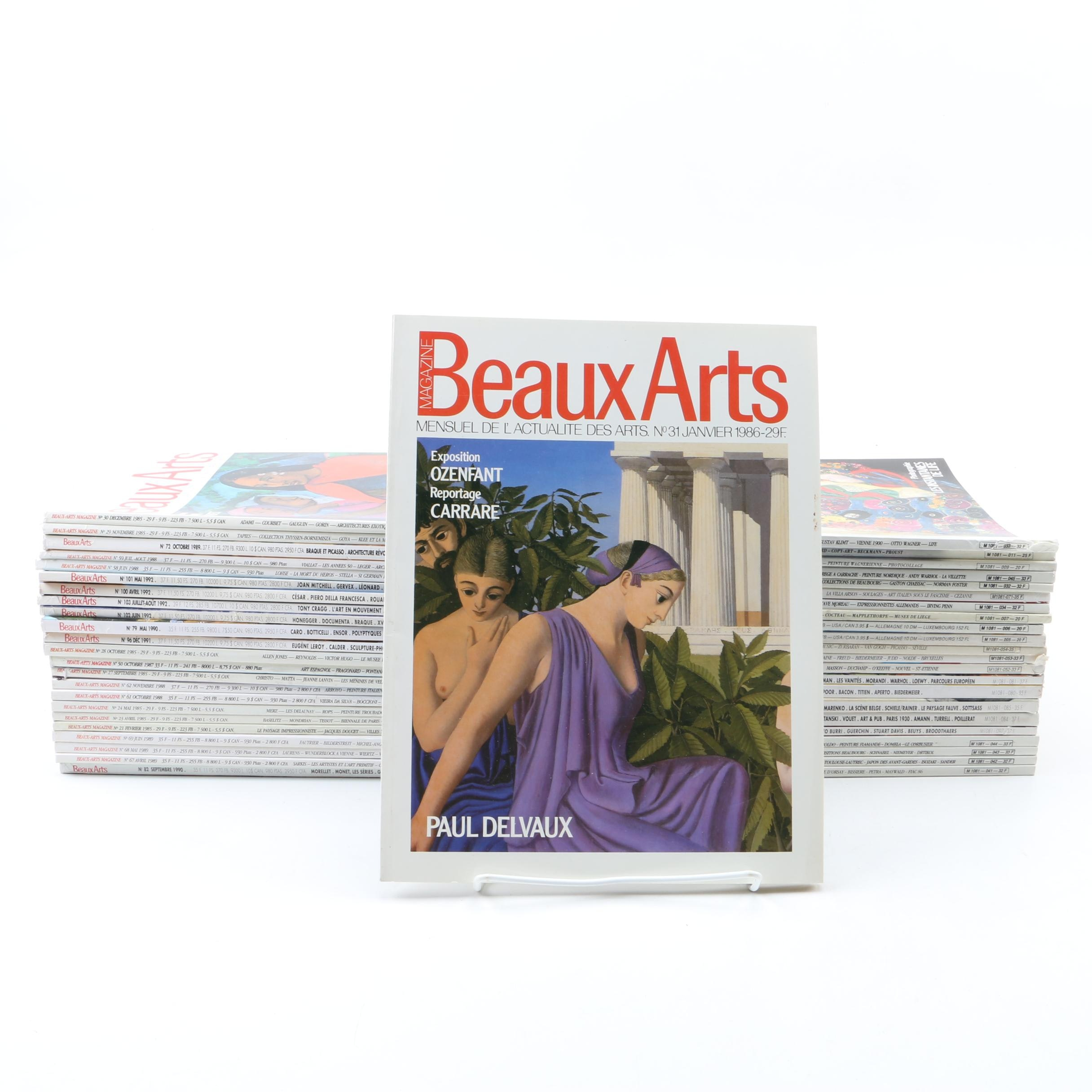 """1980s and 1990s """"Beaux Arts"""" Magazines"""