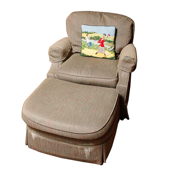 Upholstered Armchair with Ottoman by Pennsylvania House