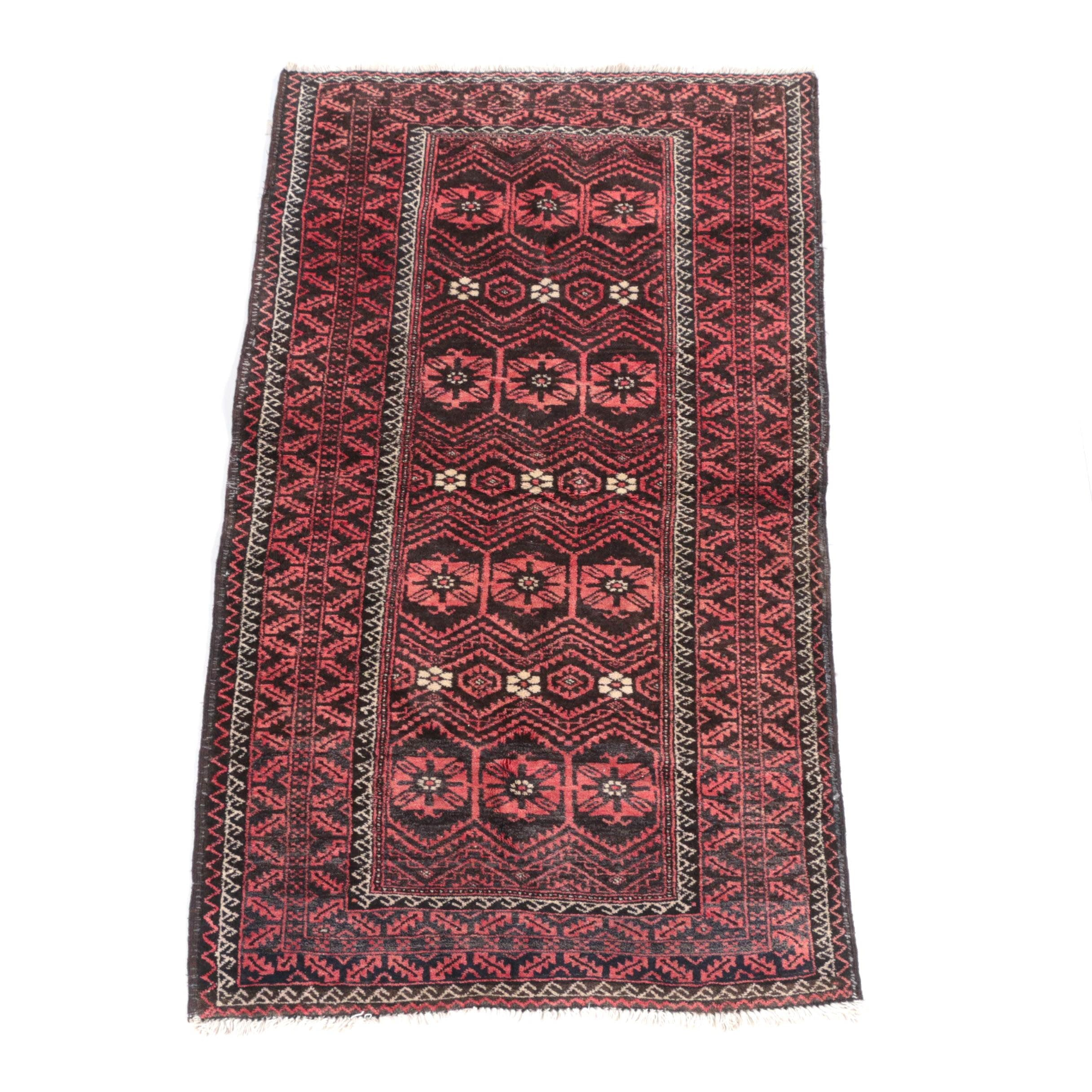 Hand-Knotted Turkmen Wool Area Rug