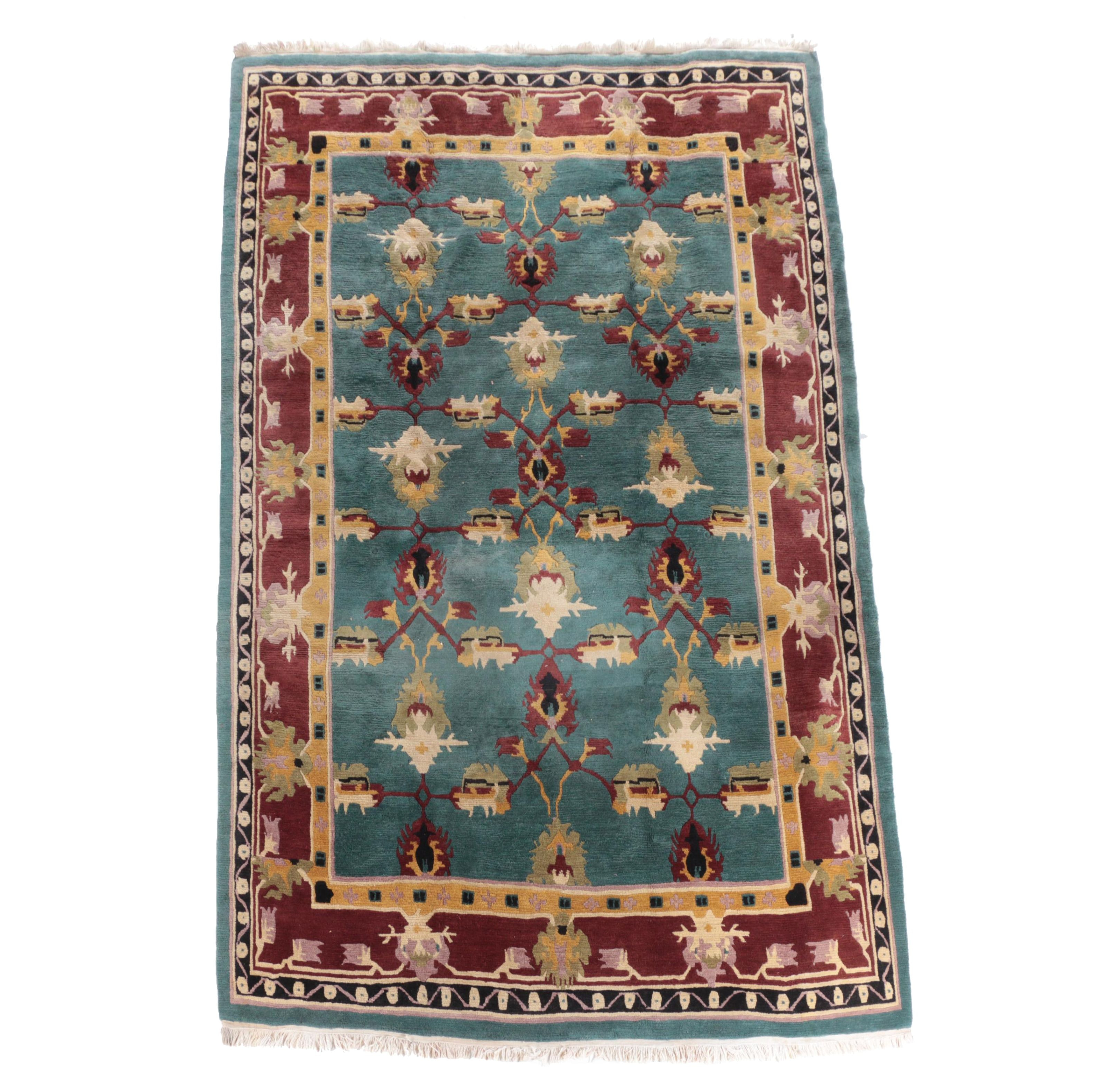 Hand-Knotted Tibetan Wool Area Rug