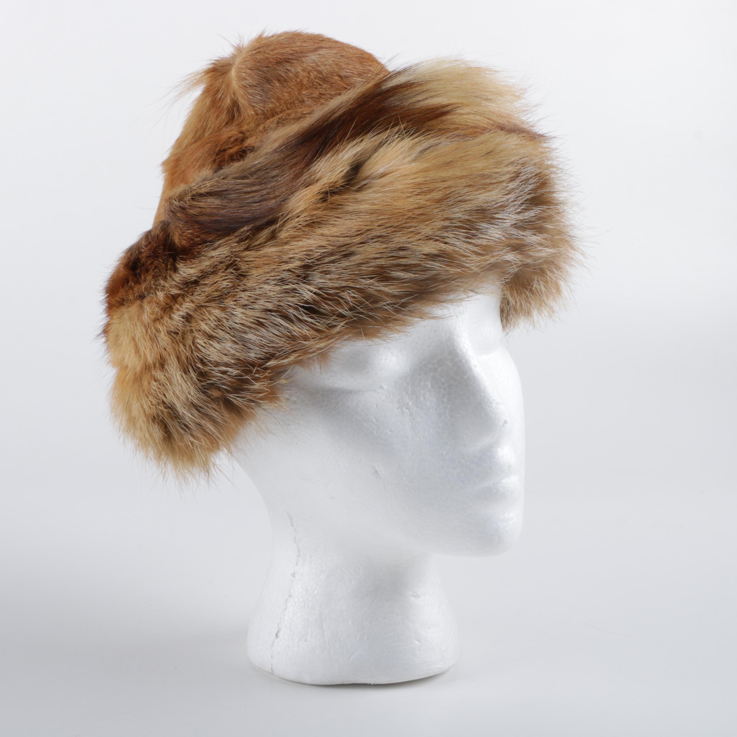 Fox Fur and Goat Fur Hat