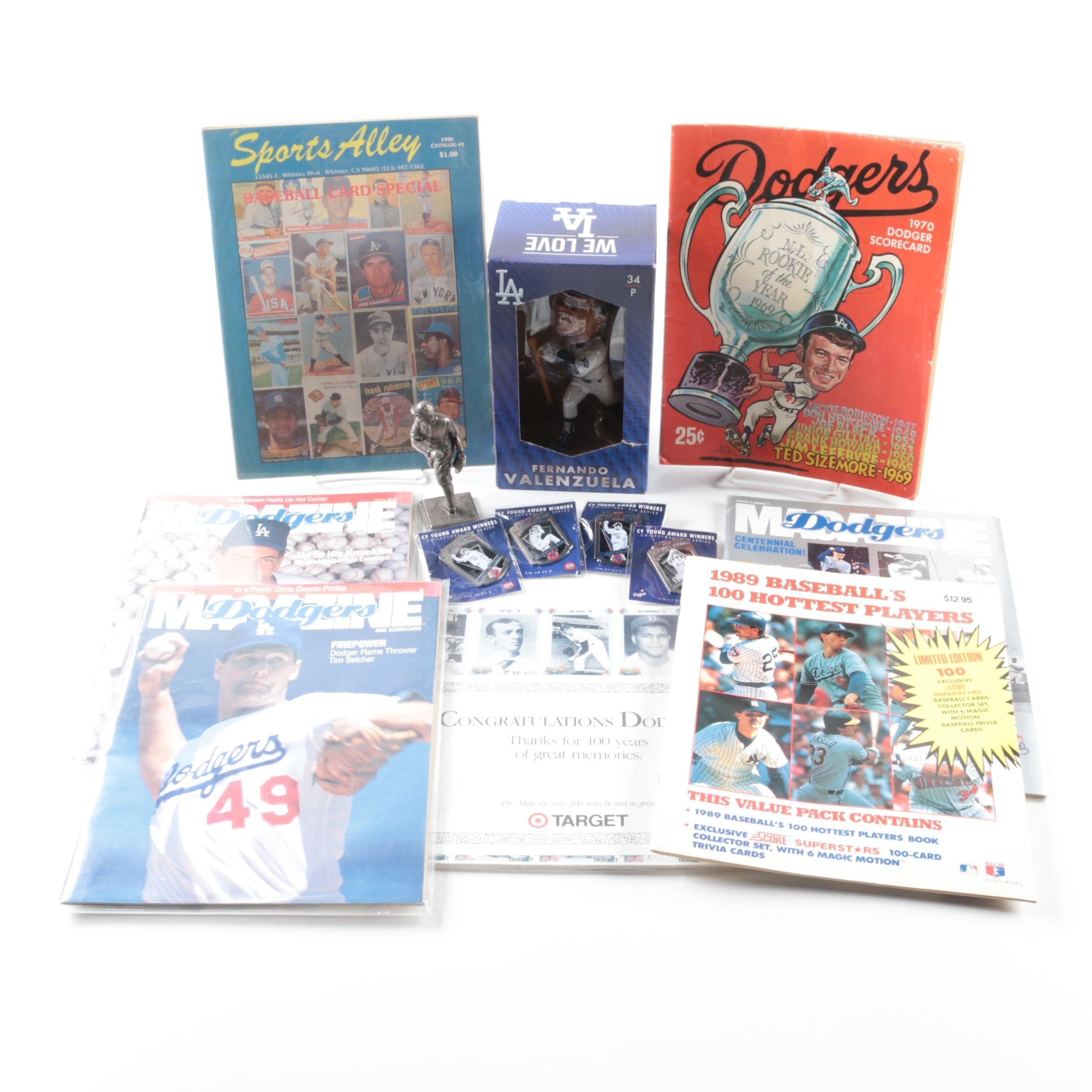 Los Angeles Dodgers and Assorted Baseball Memorabilia