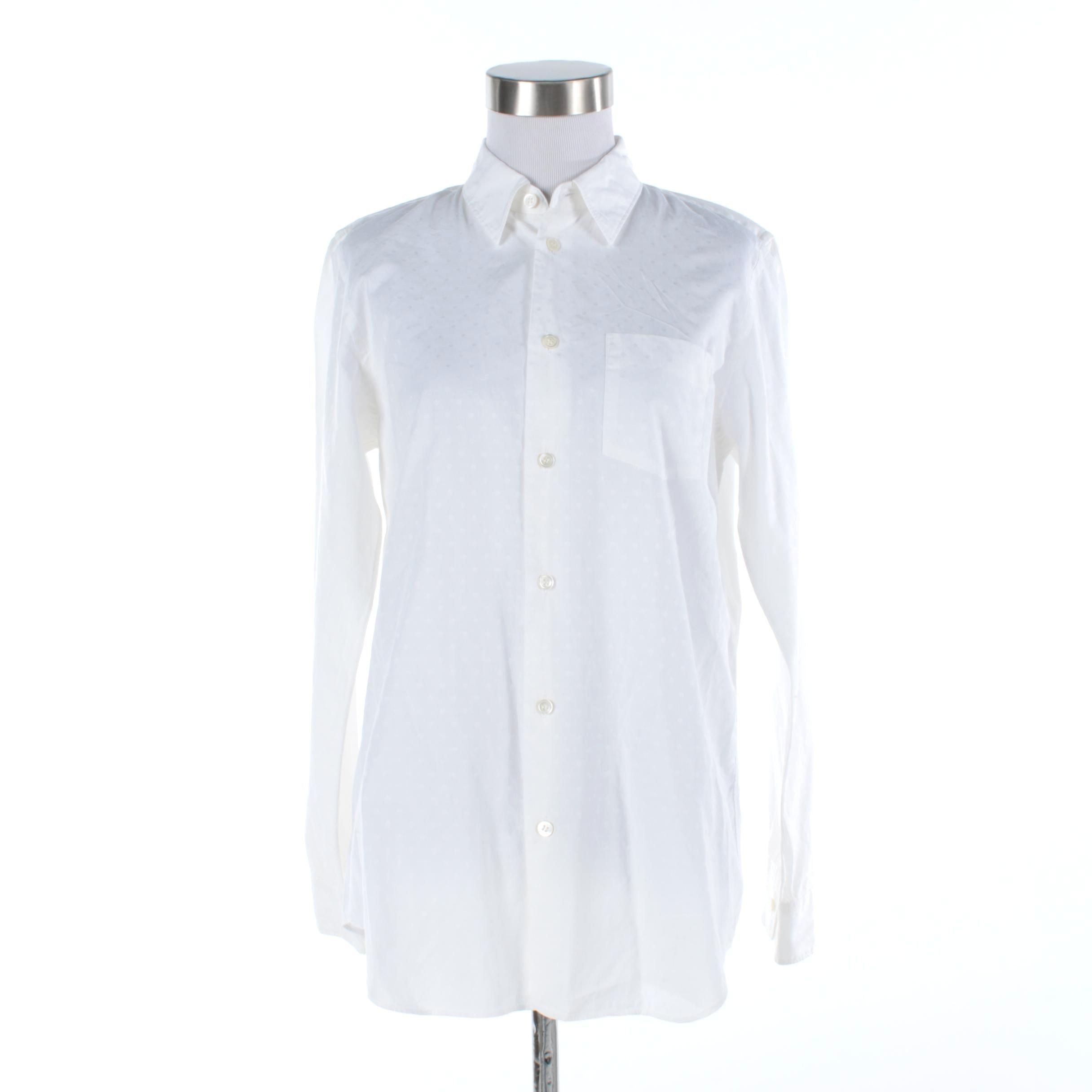 Men's Junya Watanabe White Button-Up Shirt