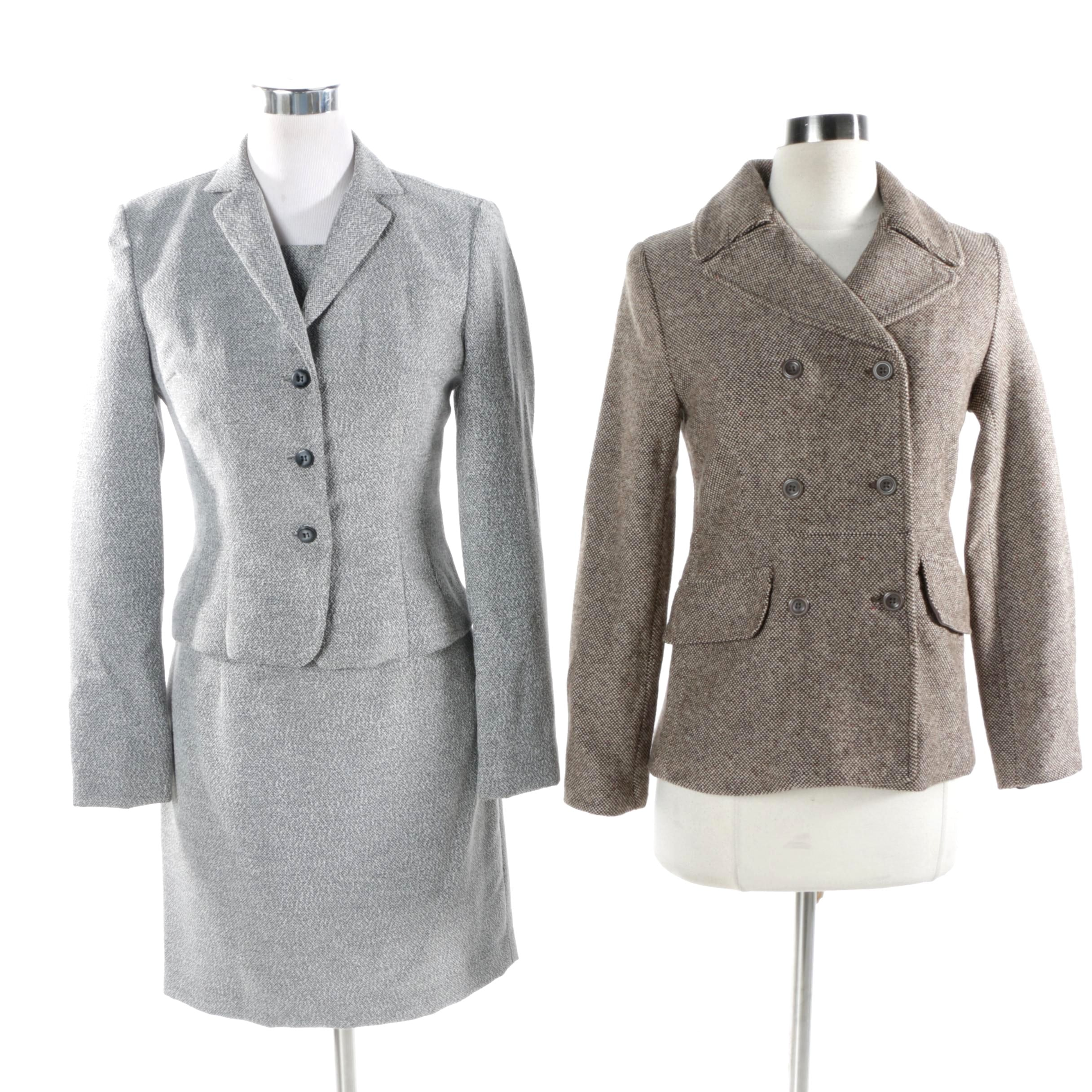Women's Barami Tweed Dress Suit and Gap Tweed Wool Blend Jacket