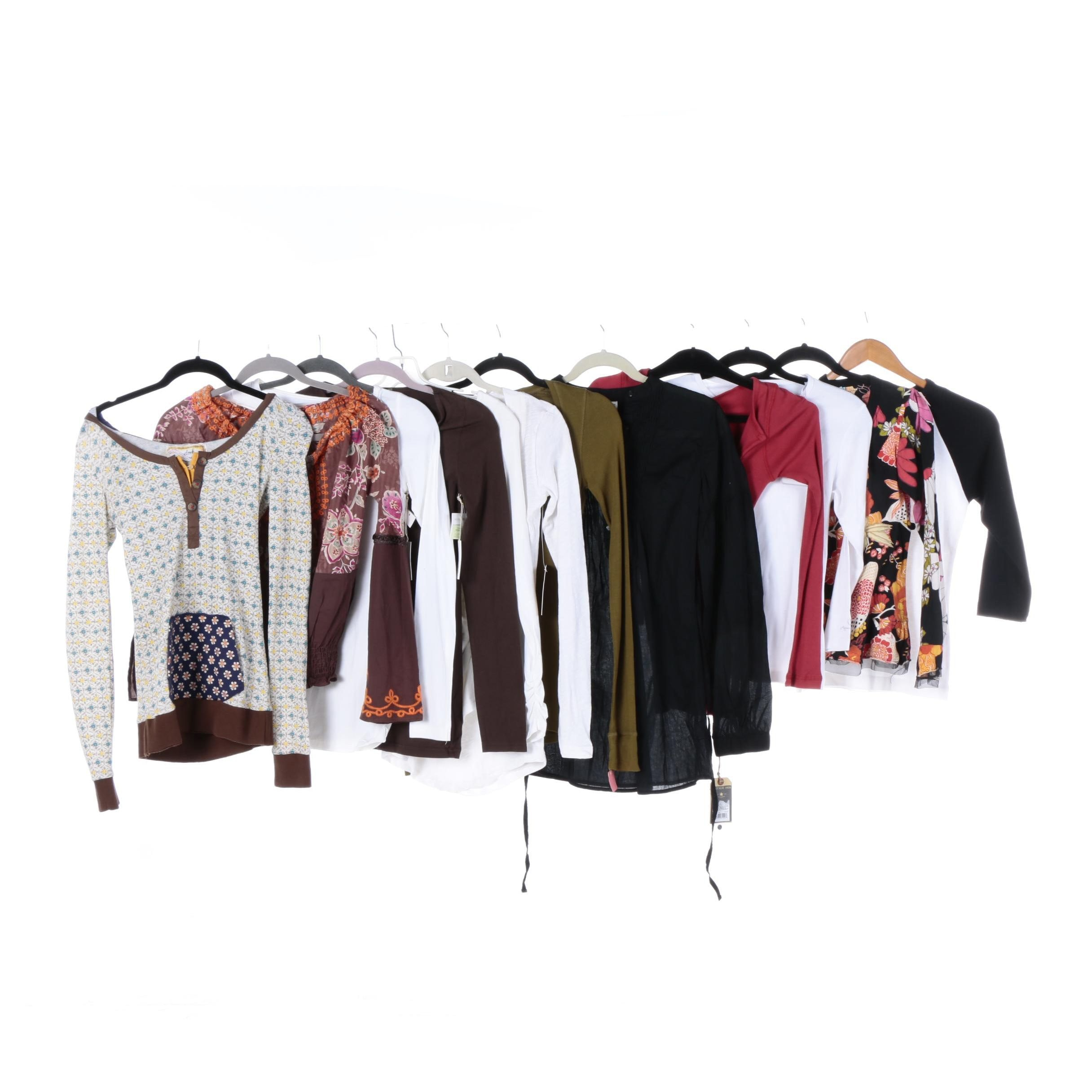 Women's Long Sleeved Shirts and Blouses Including Hologen and Kenneth Cole