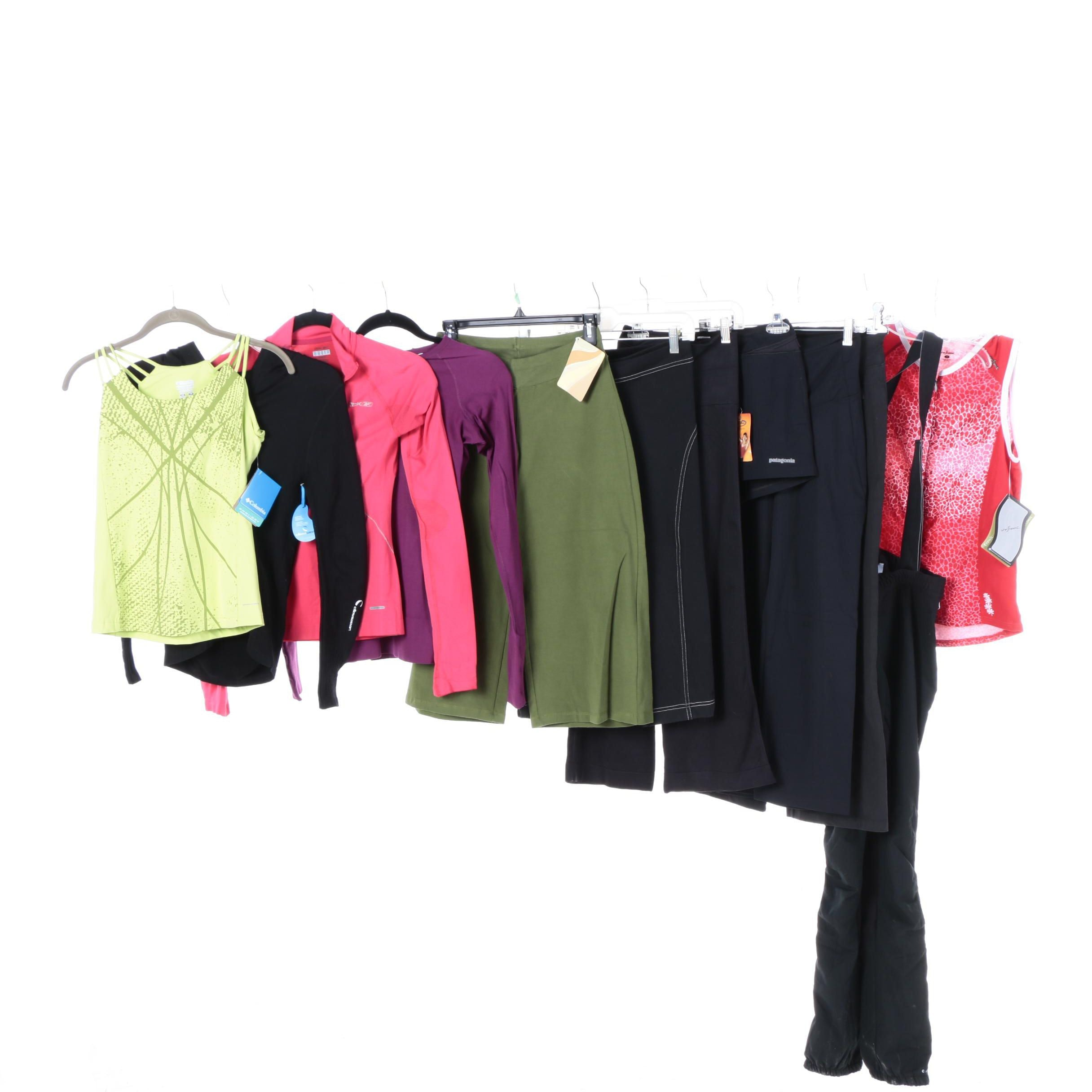 Women's Athletic Clothing Including Patagonia and The North Face