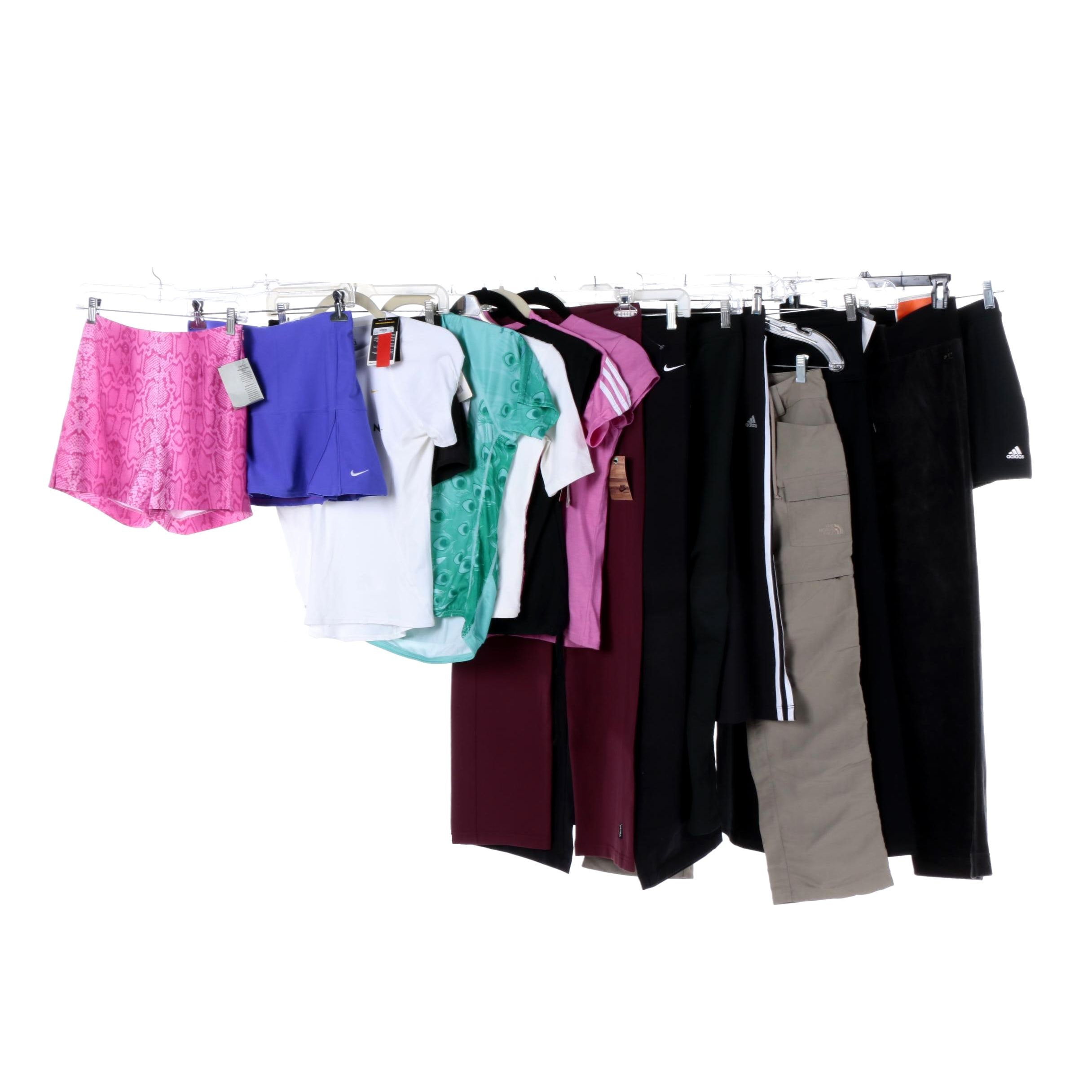 Women's Exercise Clothing Including Caché, Nike and Adidas