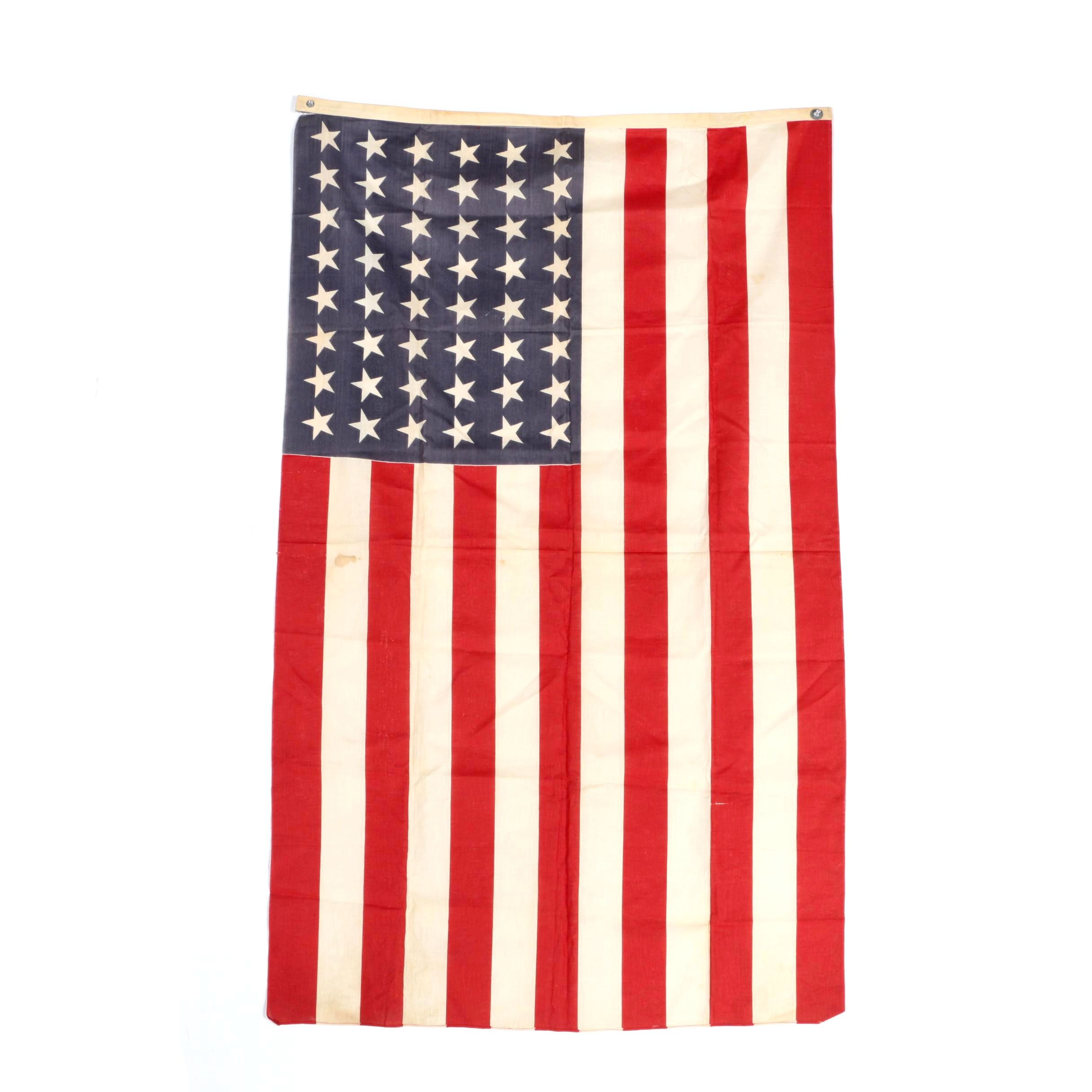 World War Two Era Forty Eight Star United States Flag