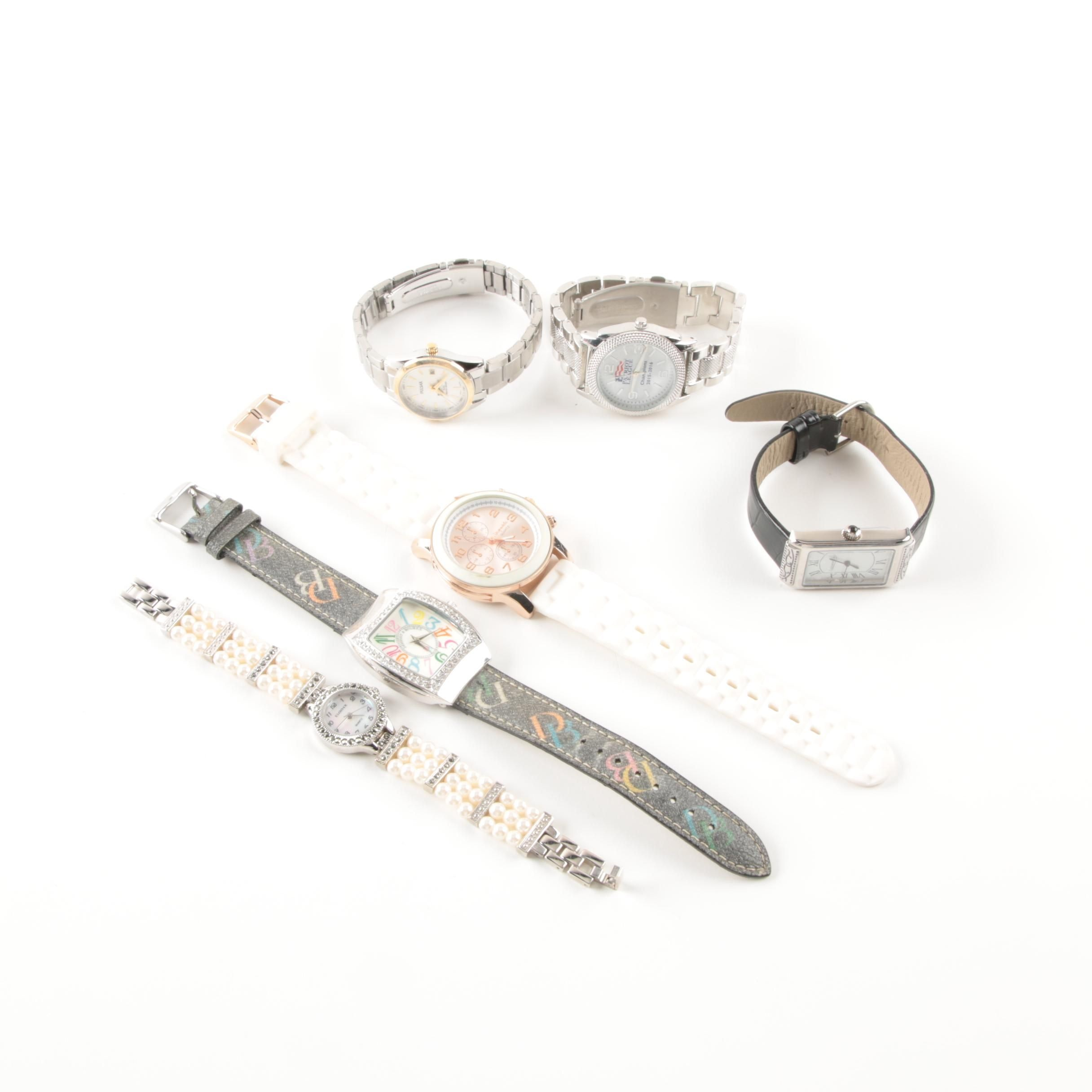 Assortment of Wristwatches Featuring Dooney & Bourke with Imitation Pearls