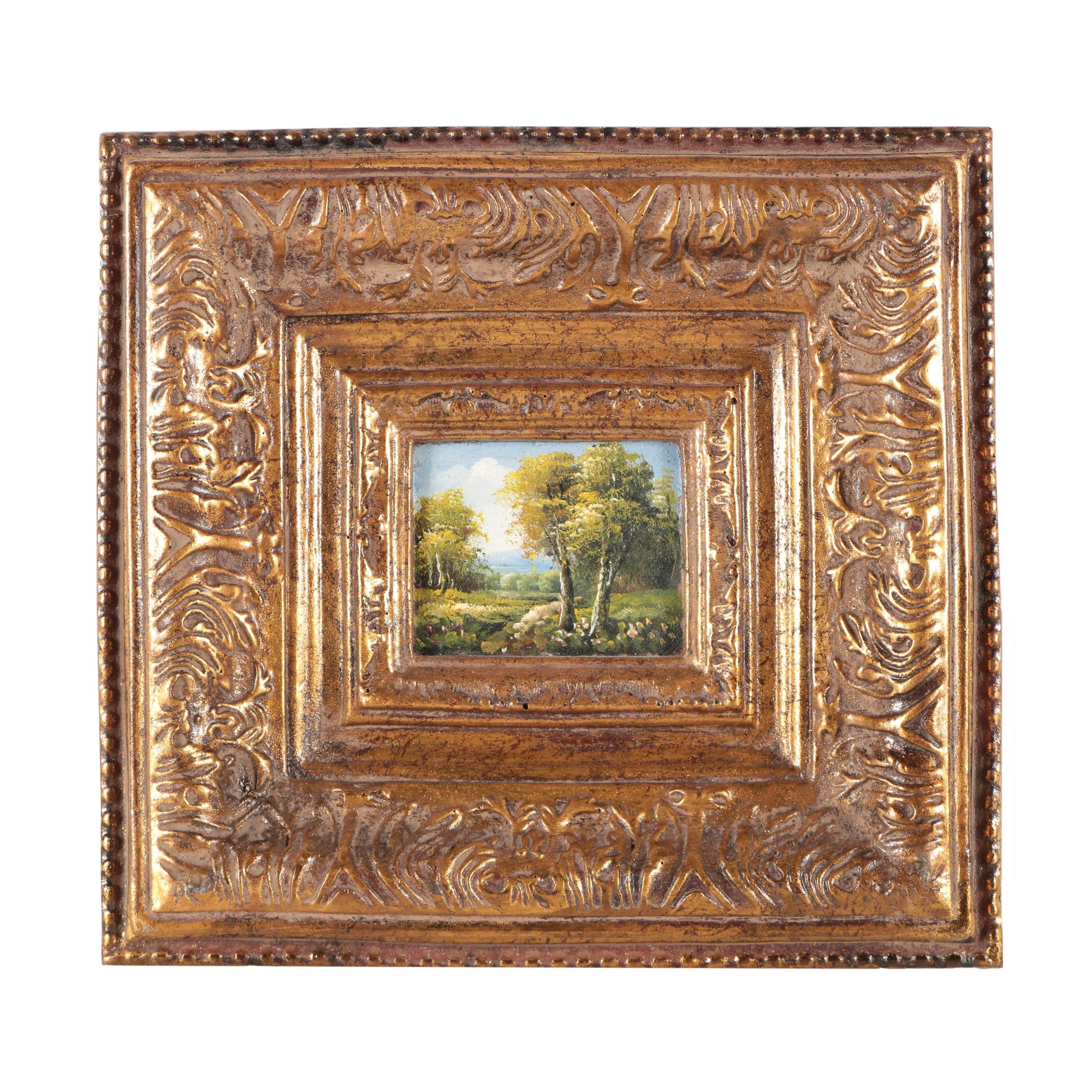 Miniature Landscape Oil Painting