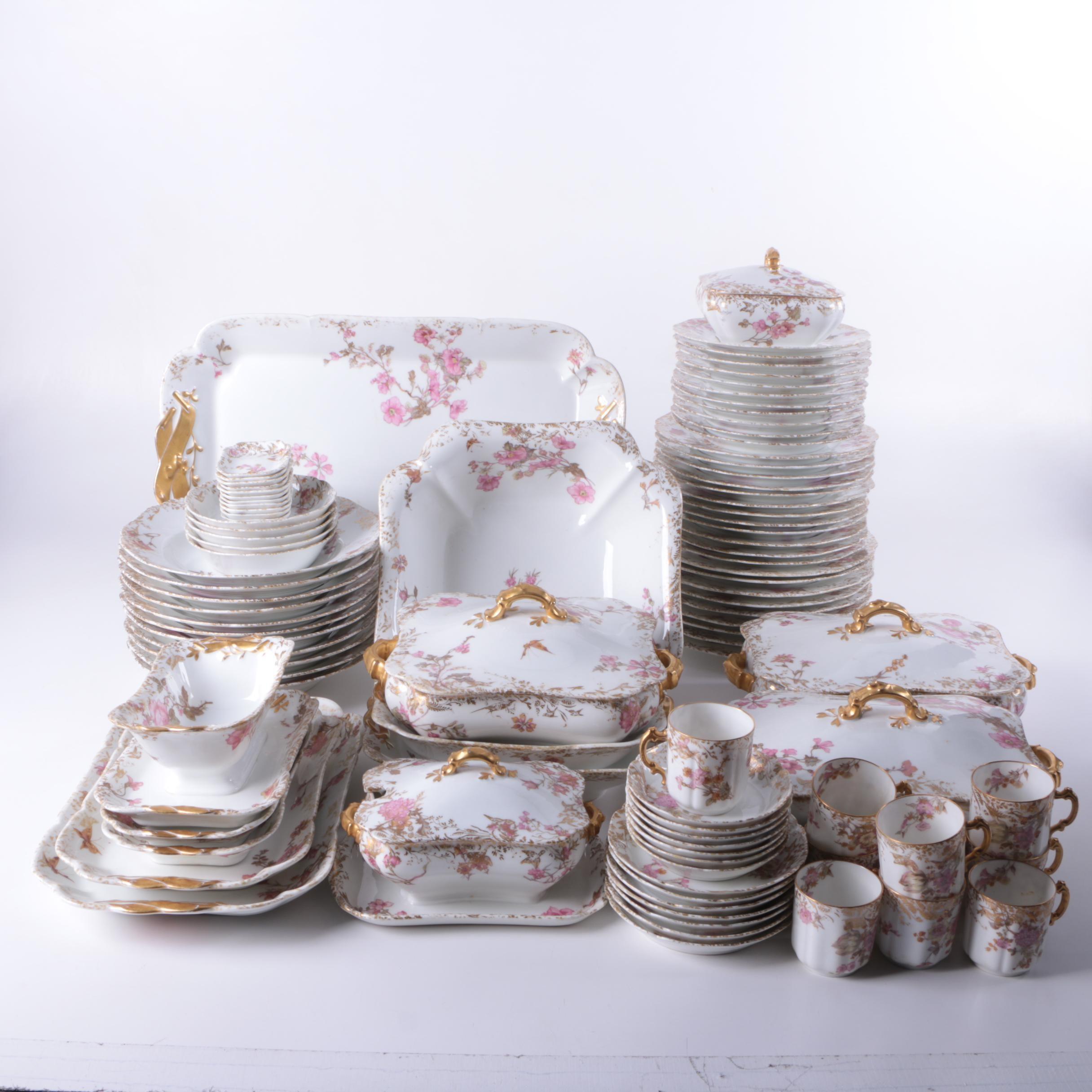 Antique Haviland Limoges Porcelain Dinnerware