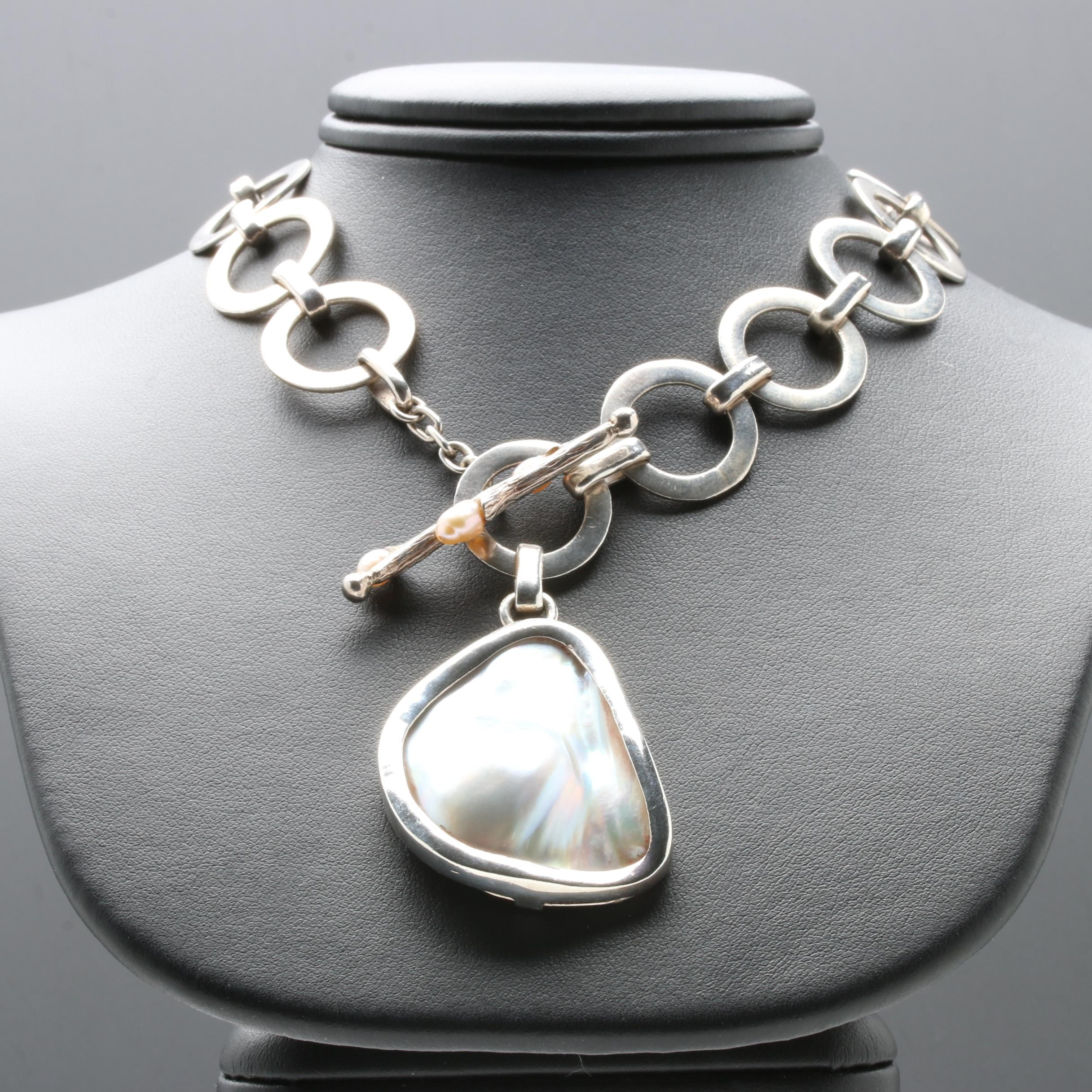 Ximena Damián Sterling Silver Cultured Pearl Necklace