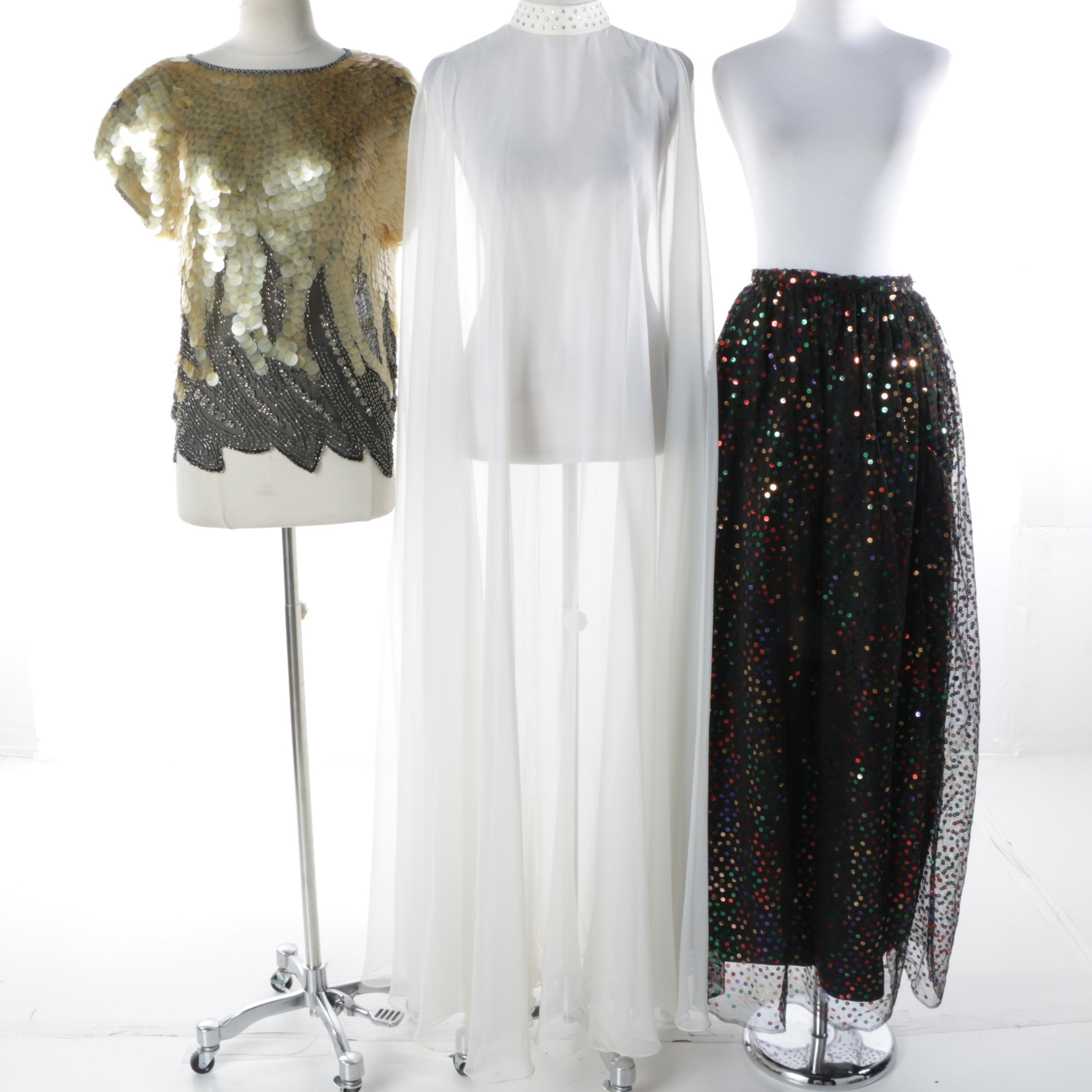 Vintage Sequin and Chiffon Separates