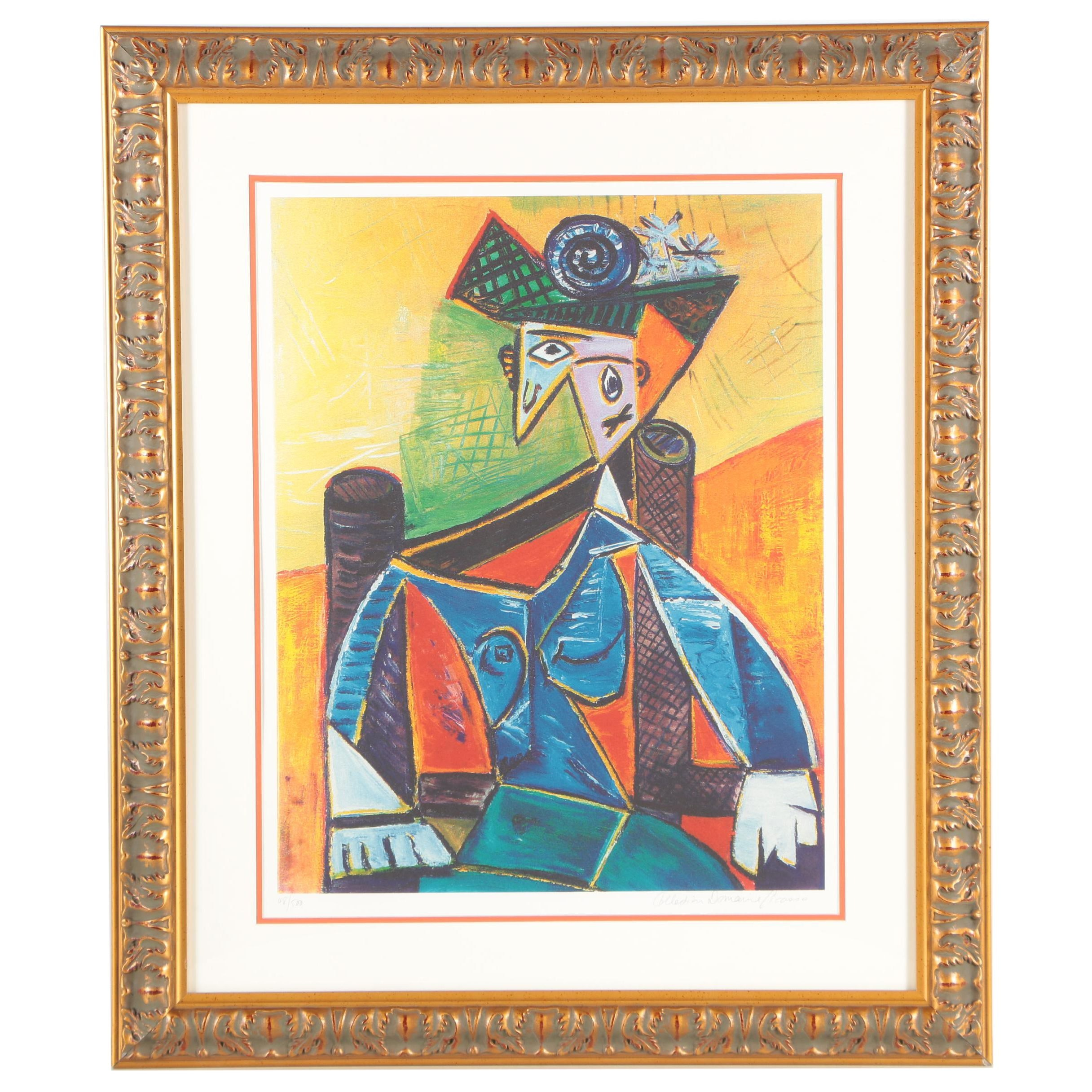 """Offset Lithograph After Pablo Picasso """"Seated Woman in an Armchair"""""""