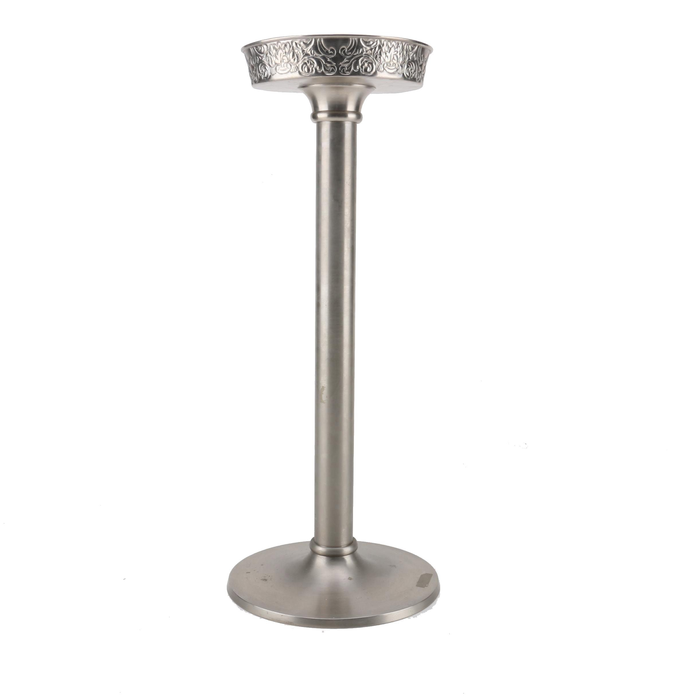 """Stetson 1865"" Silver Tone Metal Footed Stand"