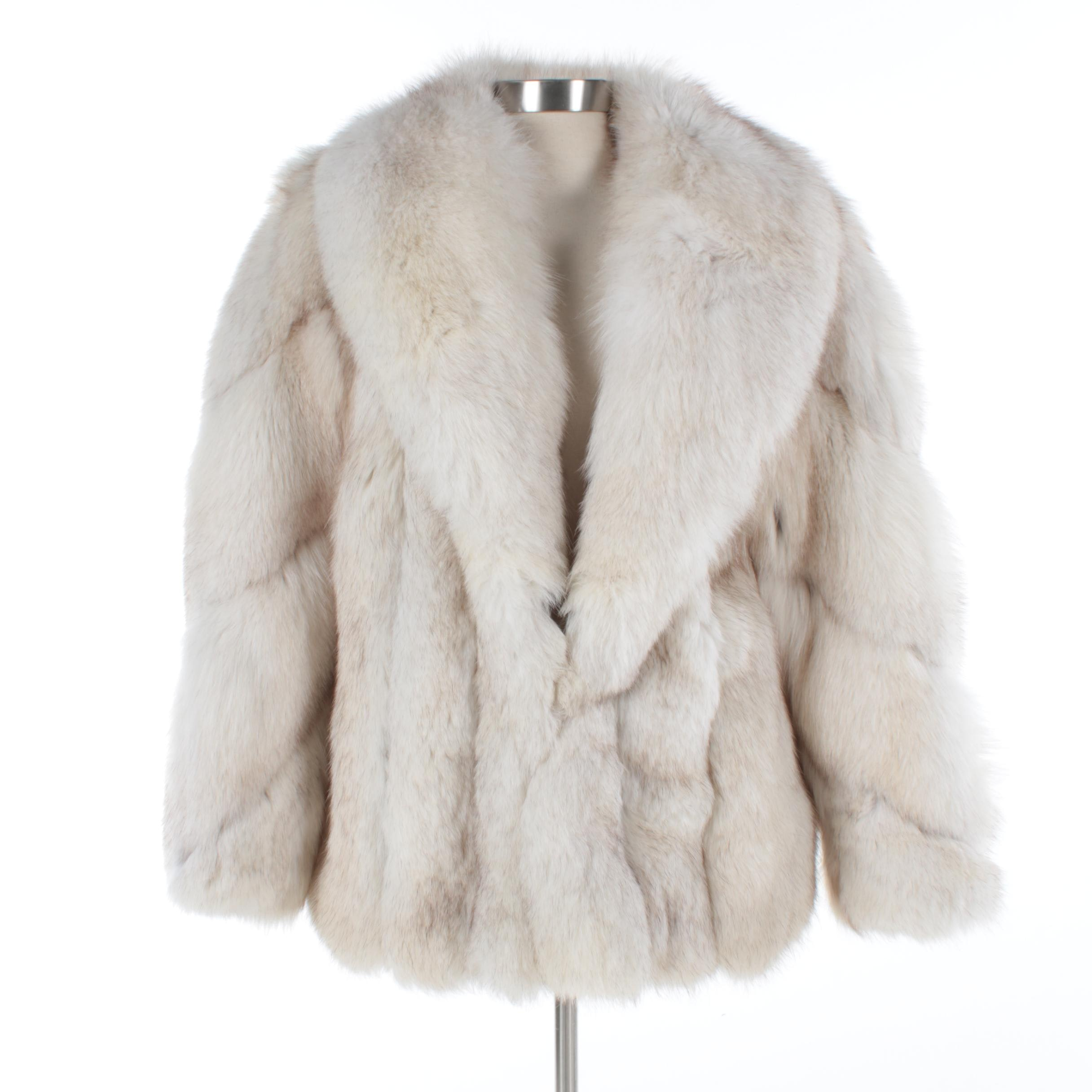 Women's Vintage Saga Fox Arctic Fox Fur Coat
