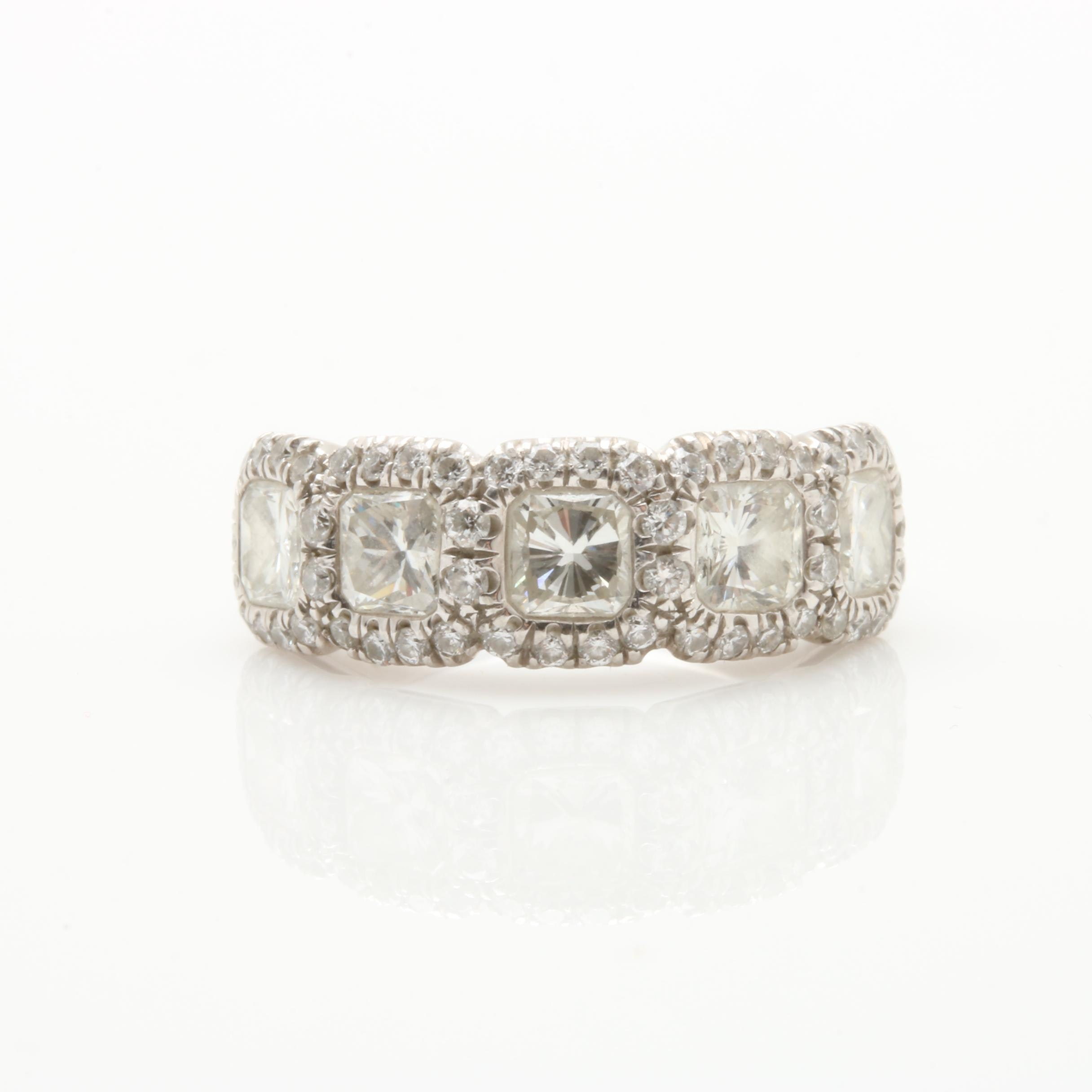 JB Star Platinum 2.43 CTW Diamond Ring